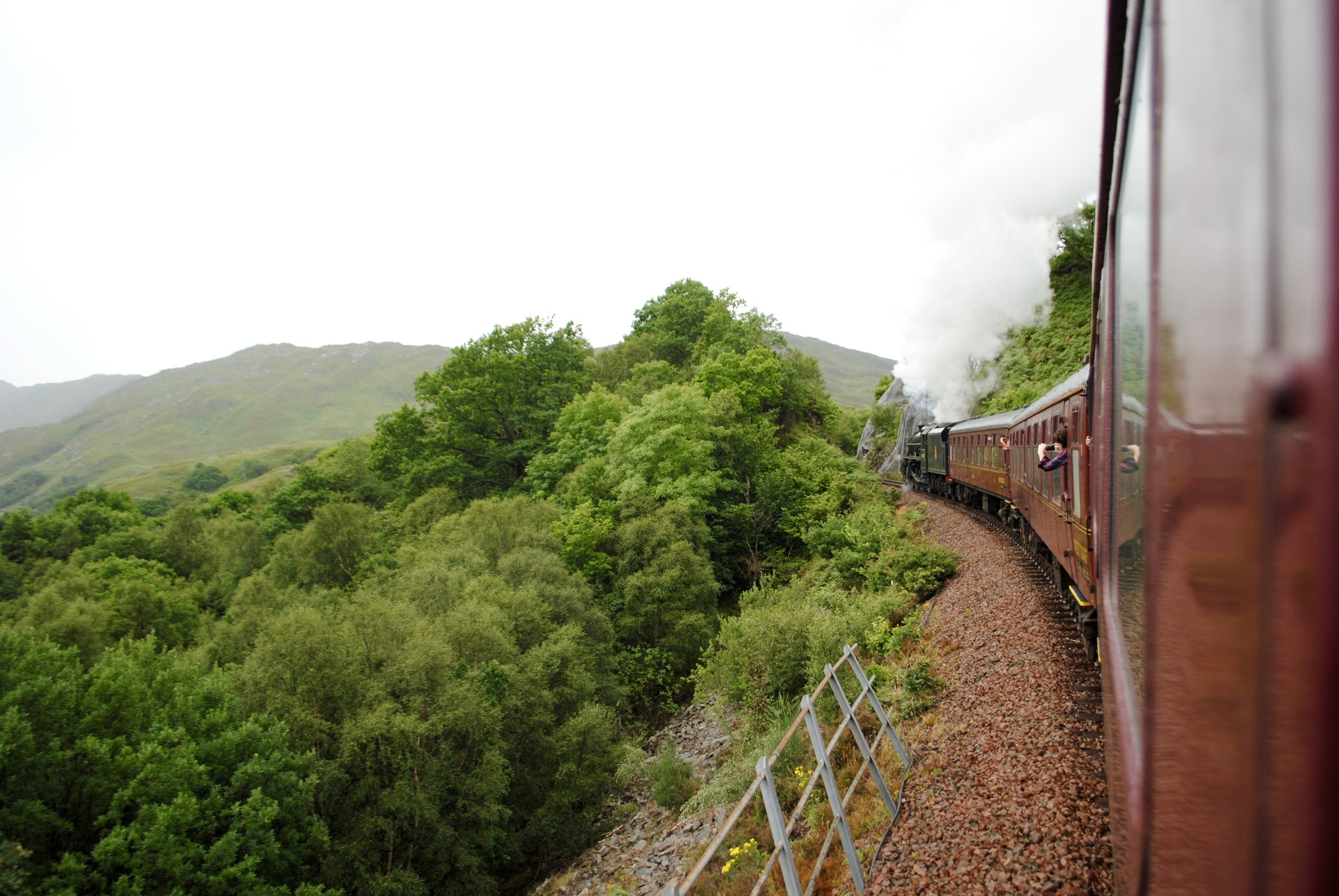 Beautiful ride on the Jacobite Steam Train