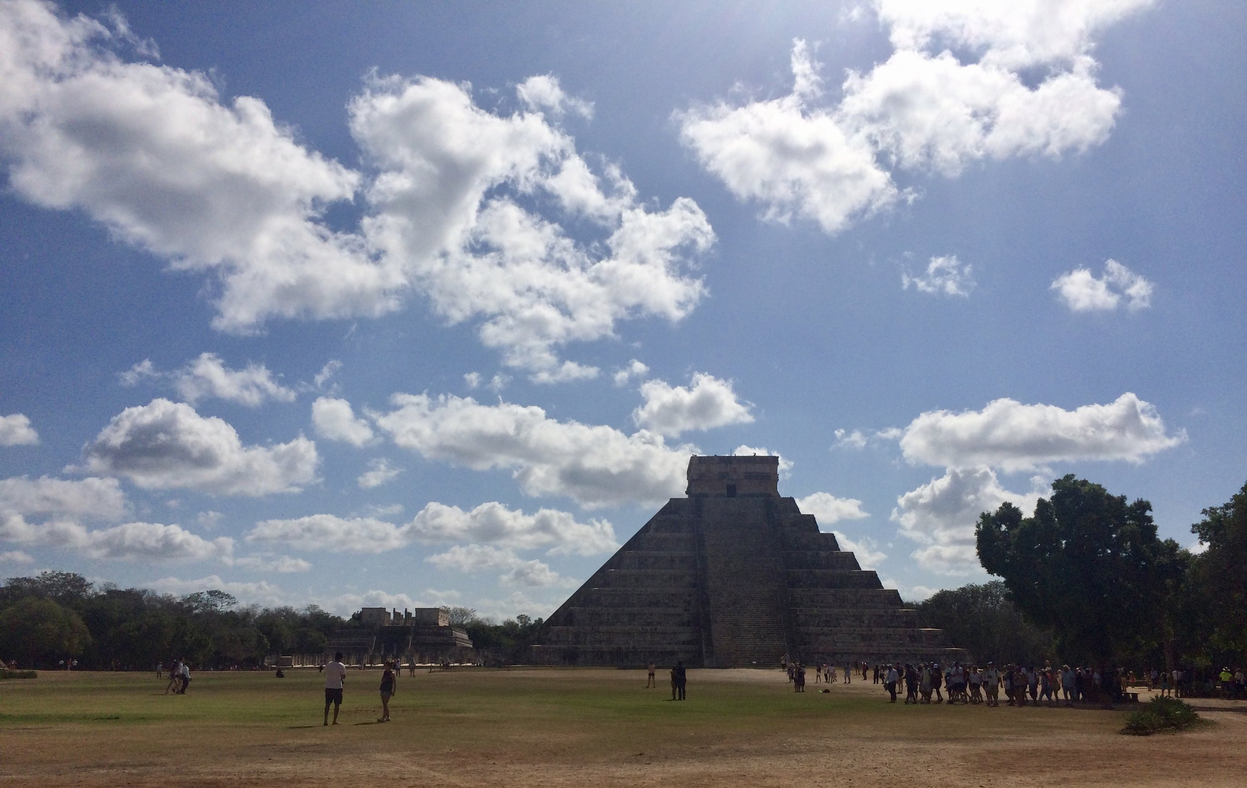 Chichen Itza on a beautiful, hot and sunny day!