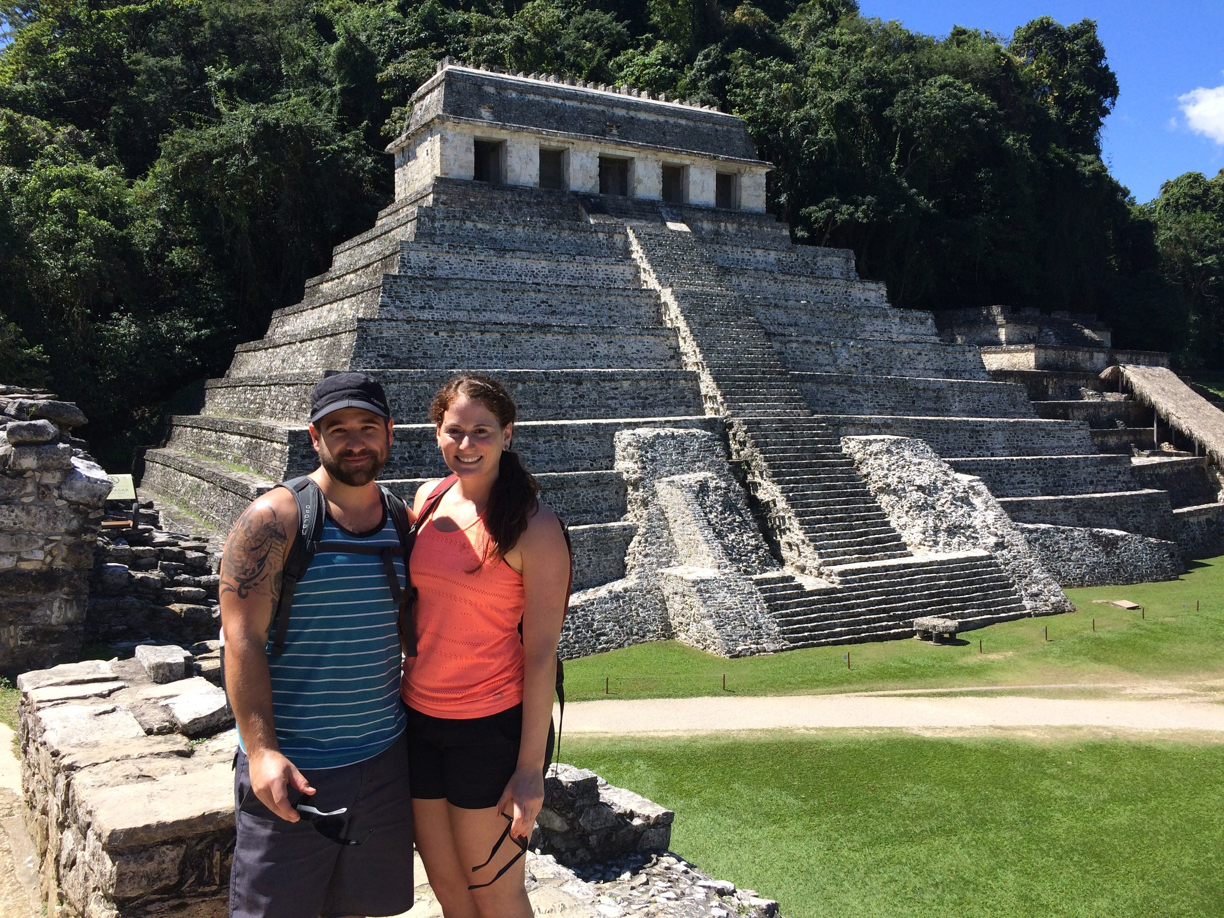 Bryan and I at the Palenque ruins.