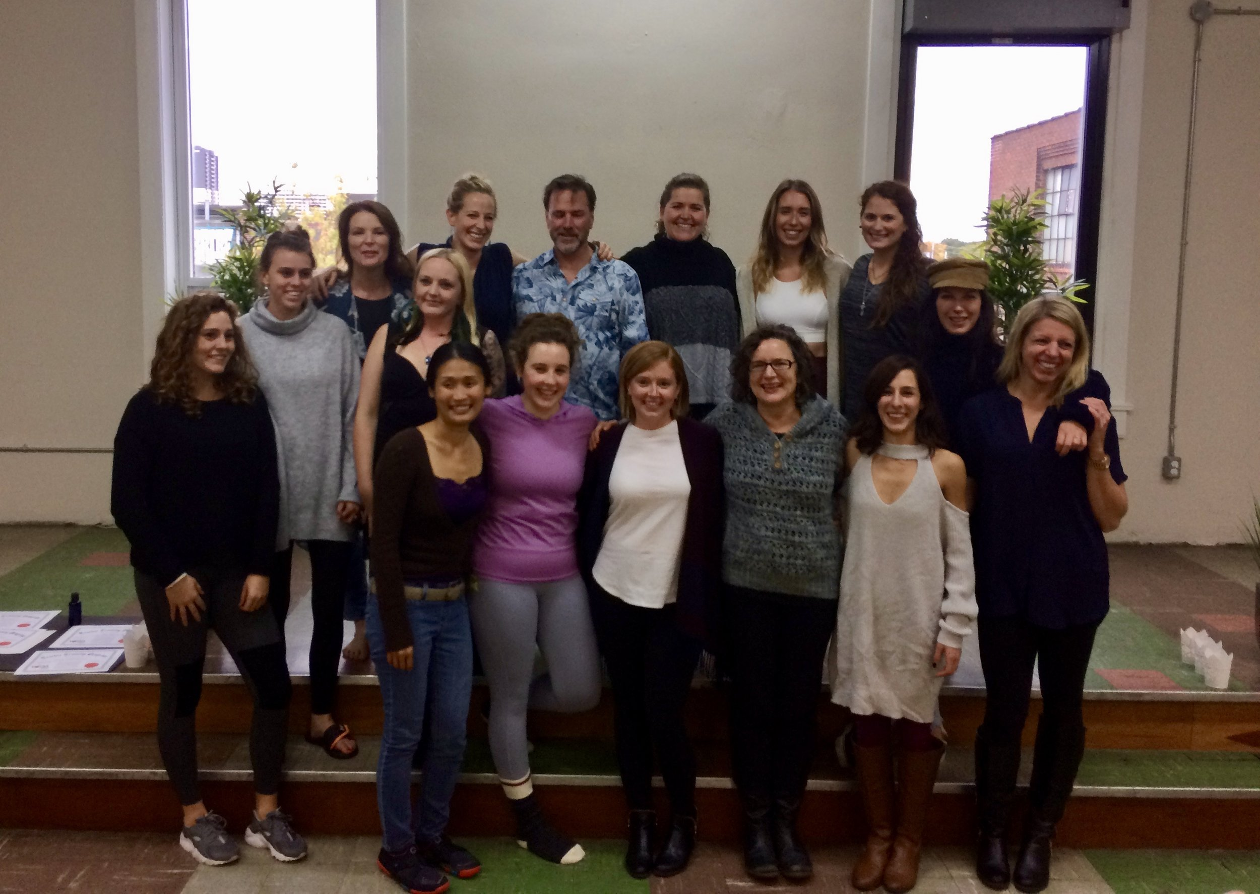 My phenomenal peers in yoga teacher training, such a special group of people!