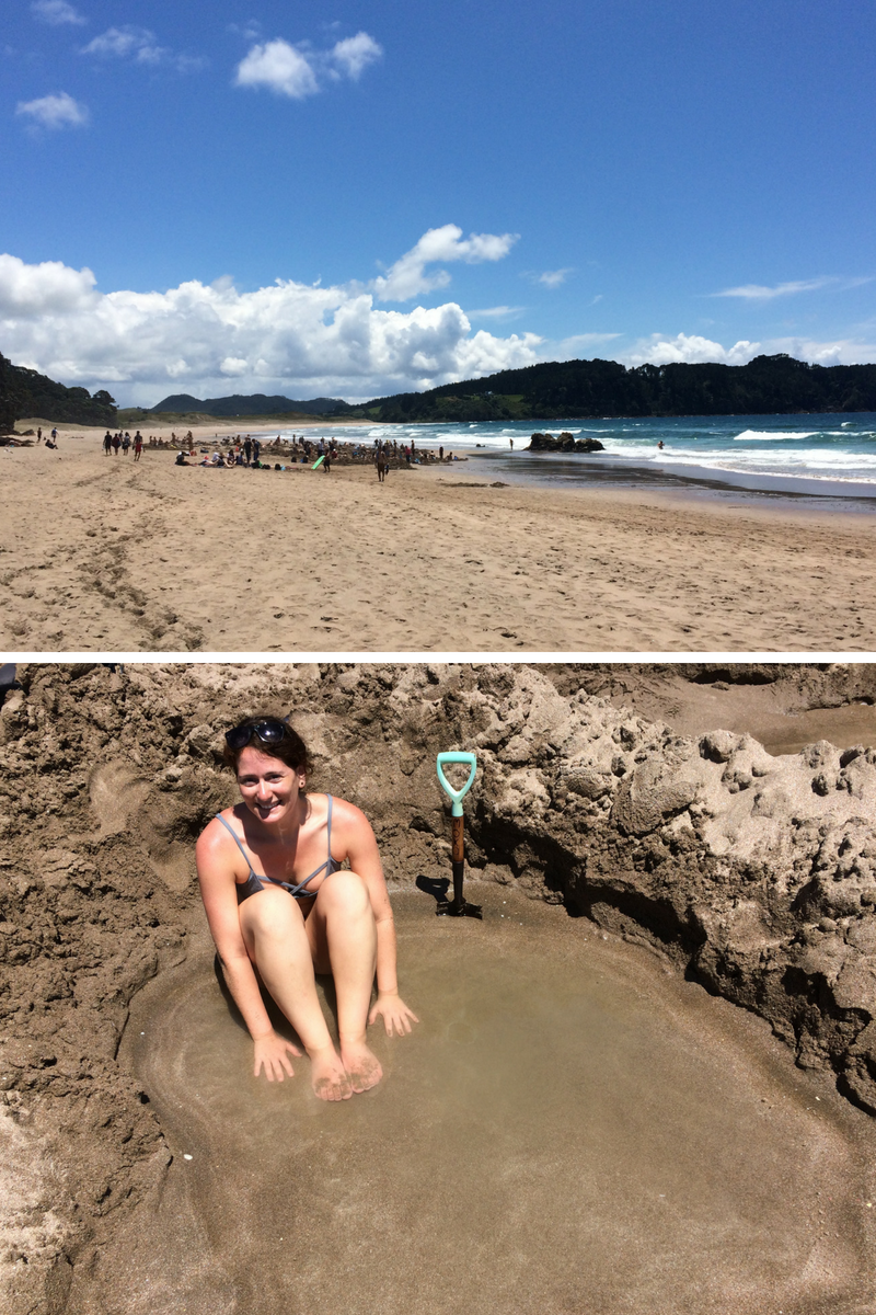 Such a fun, cool and warm atmosphere at hot water beach;a definite must if you are in the North!