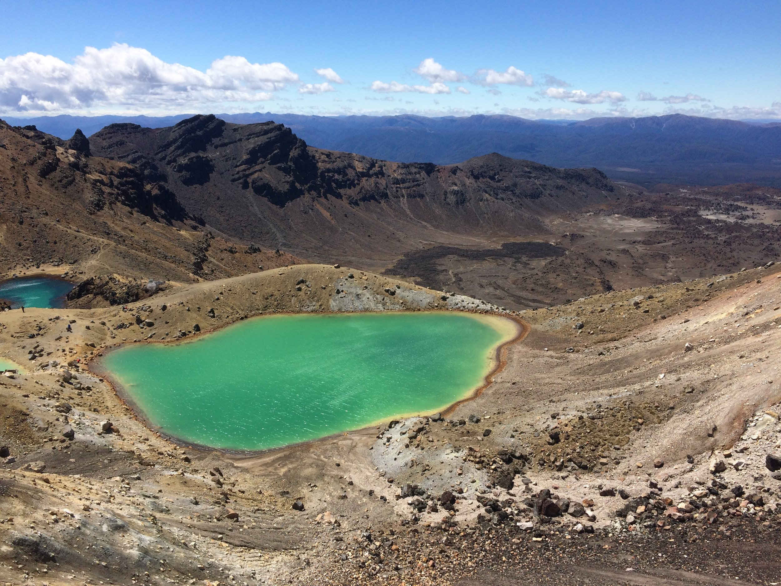 One of the beautiful crater lakes on the Tongariro; look at those colours!