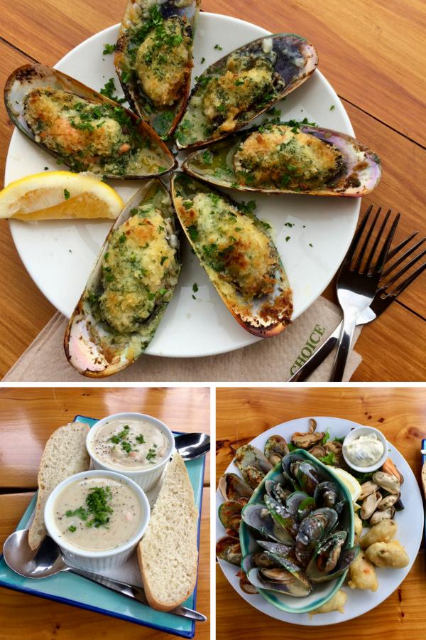 Green mussels for breakfast, delish!
