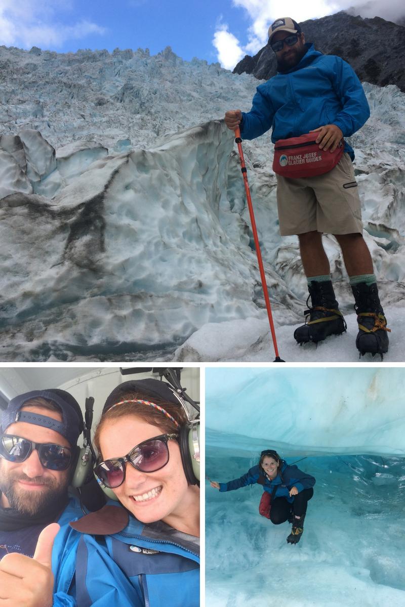 Exploring the Franz Josef glacier on our heli-hike.