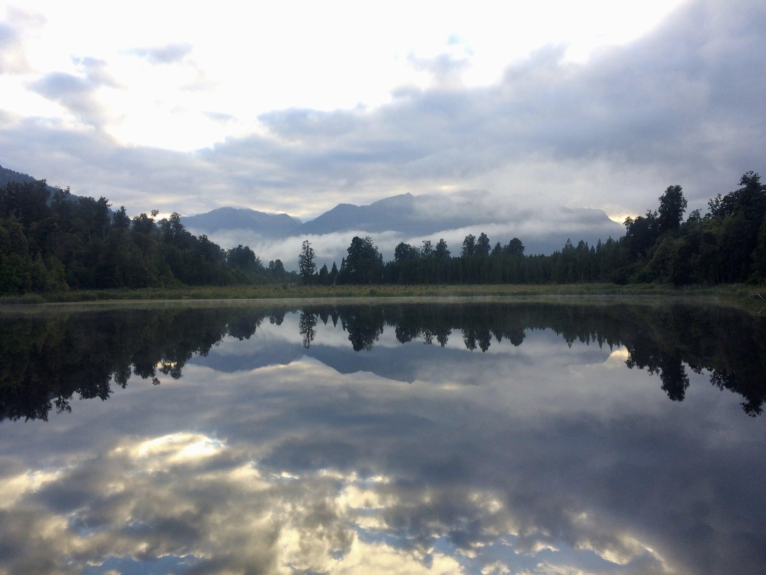 Lake Matheson, also known as 'Mirror Lake'.