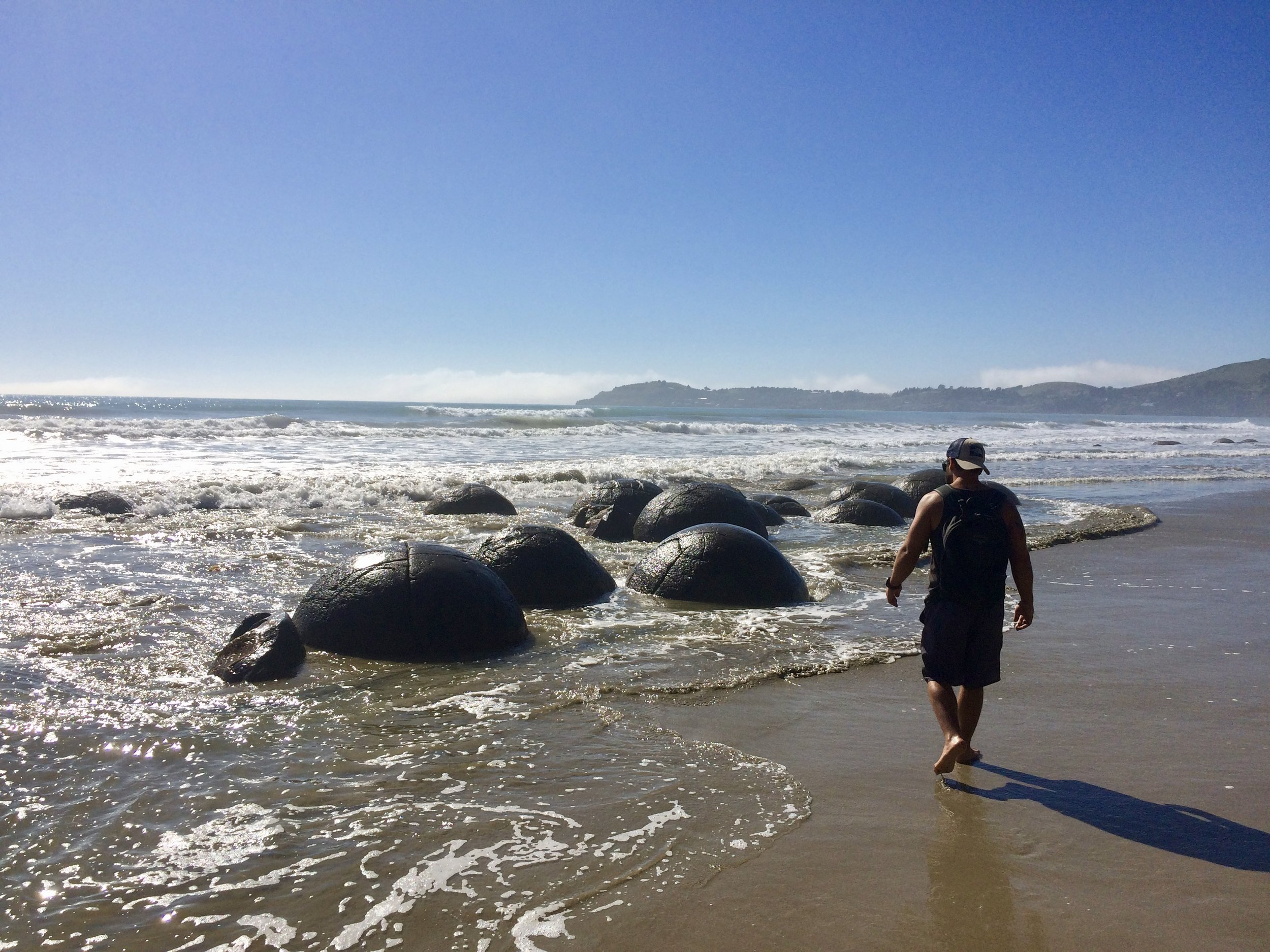 Visiting the Moeracki Boulders; our day of oddities.