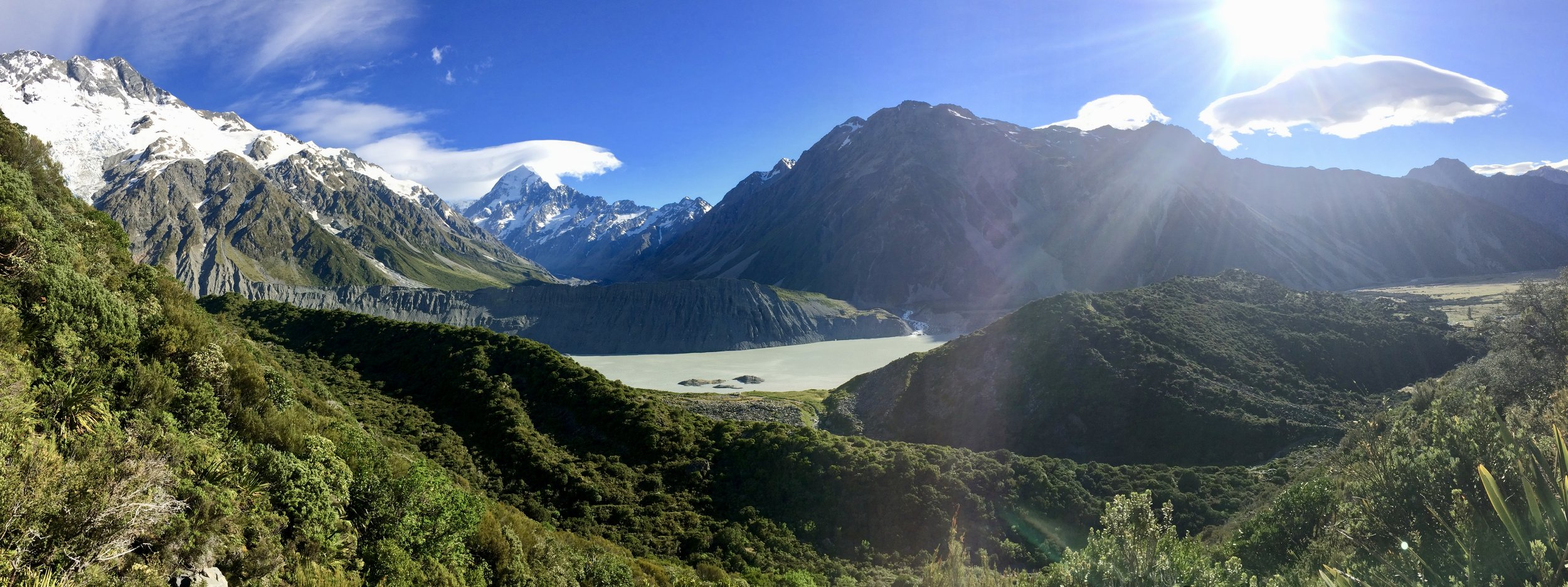 Gorgeous views at Mount Cook National Park.