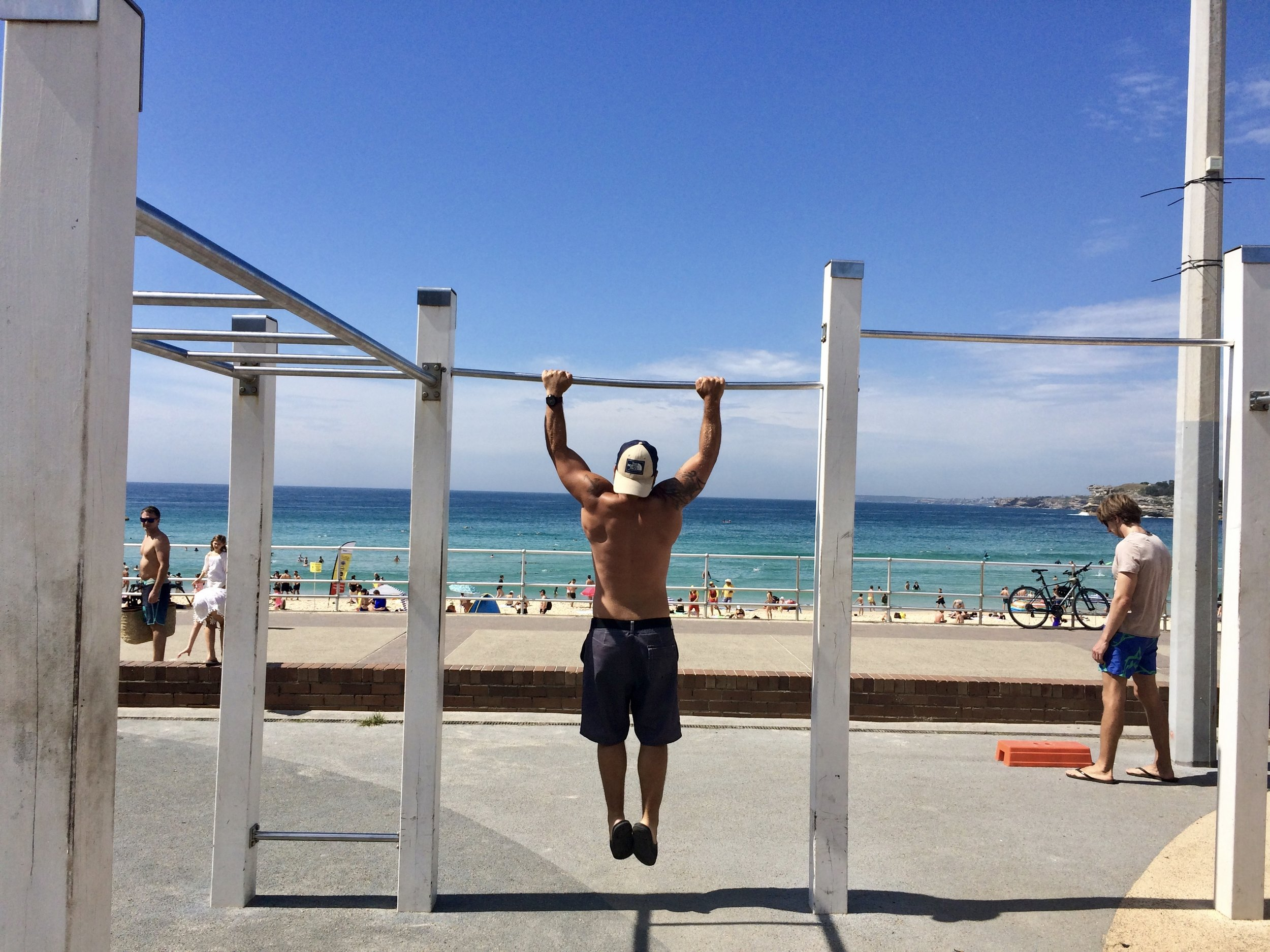 Did you even go to Bondi Beach if you didn't hit the beach gym? Couldn't resist...