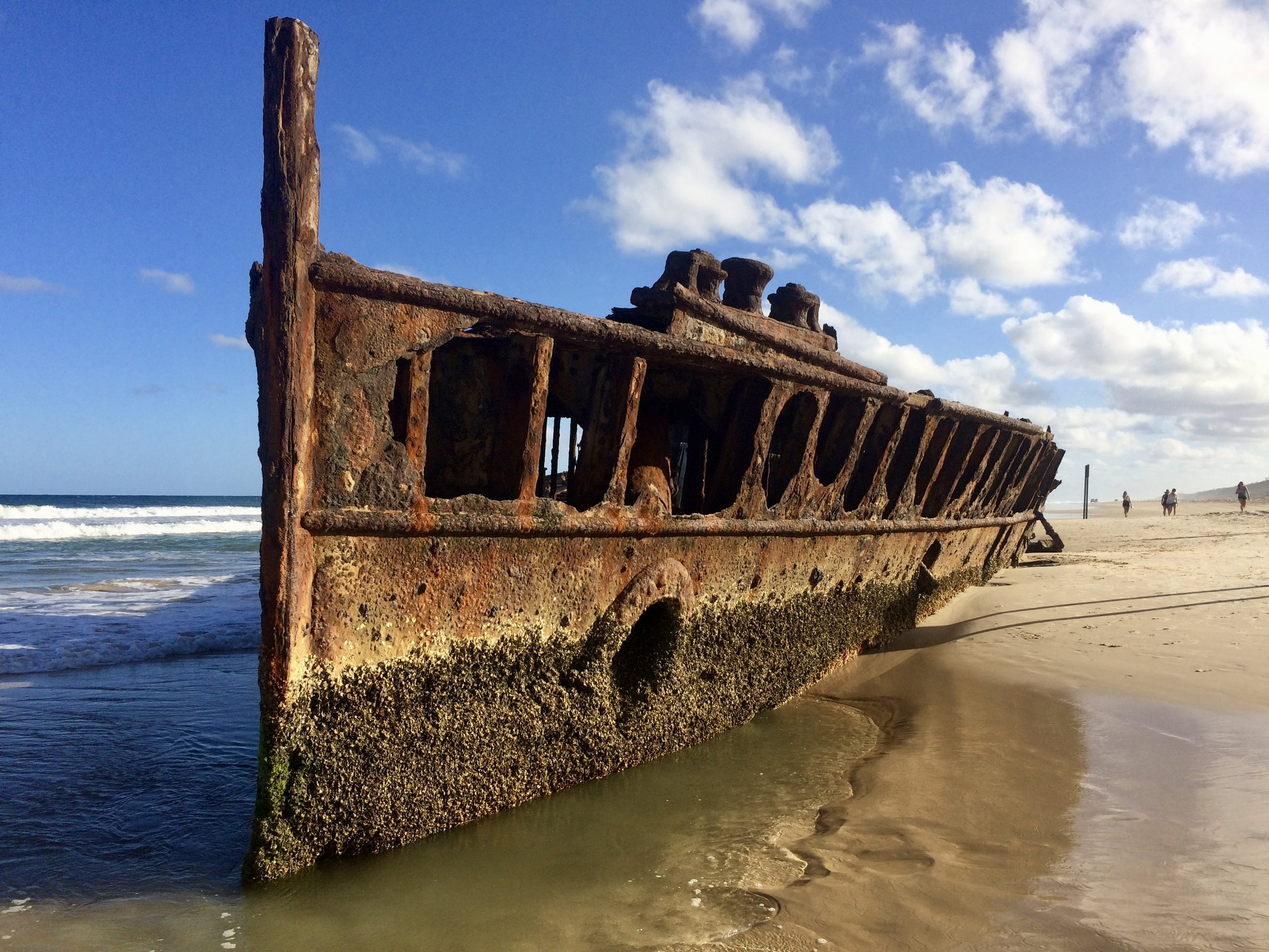 Maheno Shipwreck on the shores of Fraser Island.