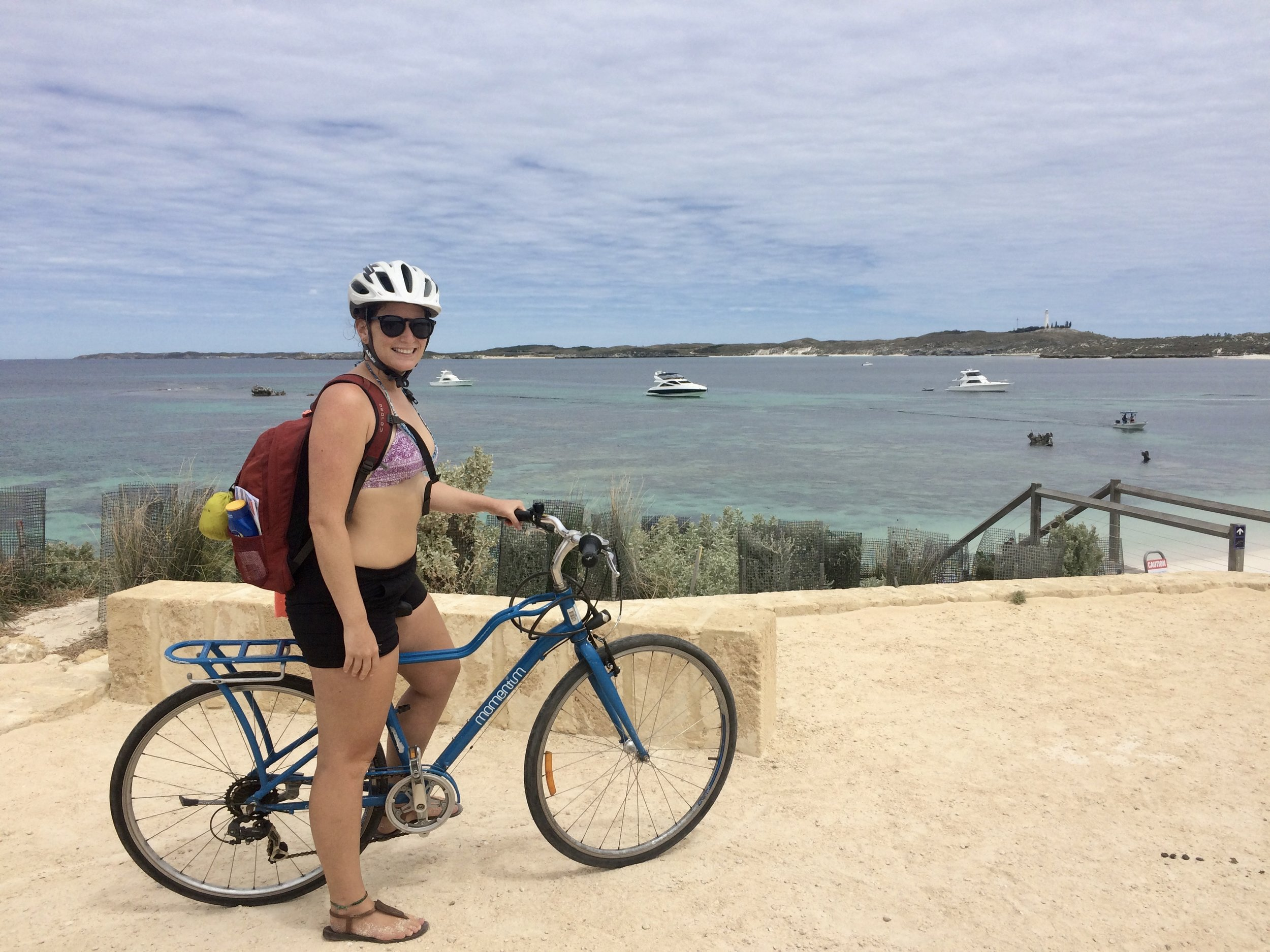 Exploring Rottnest on bicycle - an active, busy day!