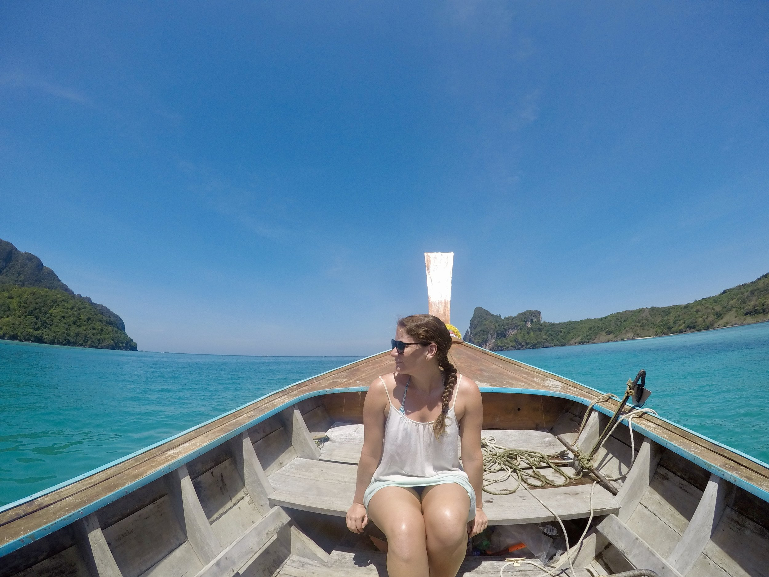 We hired a longboat for a couple hours to enjoy the island.