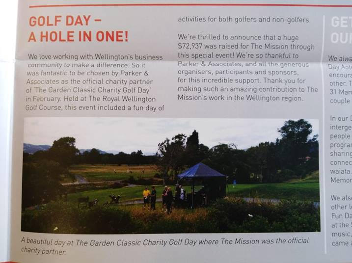 Golf Day - A hole in one