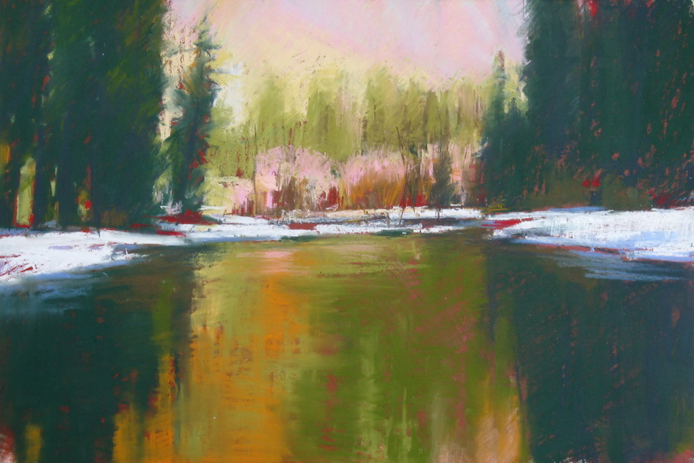 YR28--Skelly, Jeffrey, Winter Reflections on the Merced River.jpg