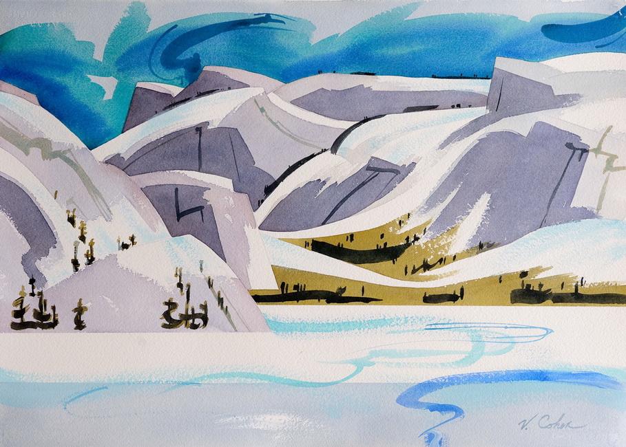 YR 27--Cohen, Valerie P, June Snow on Tenaya Lake.jpg
