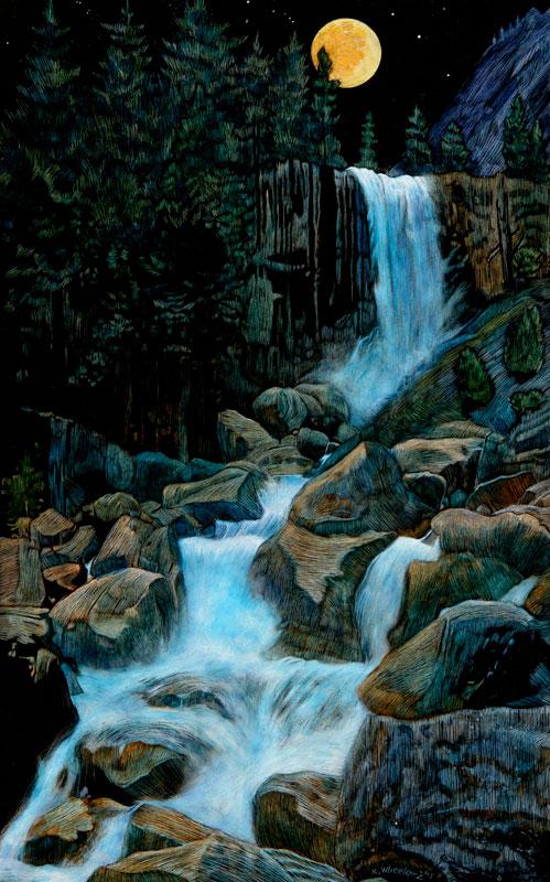 <b><i>Vernal Falls Moonlight,</b></i> Rick Wheeler