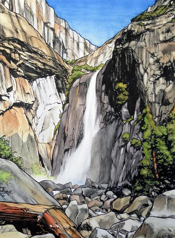 <b><i>Lower Yosemite Falls,</b></i> Chris Weiermiller