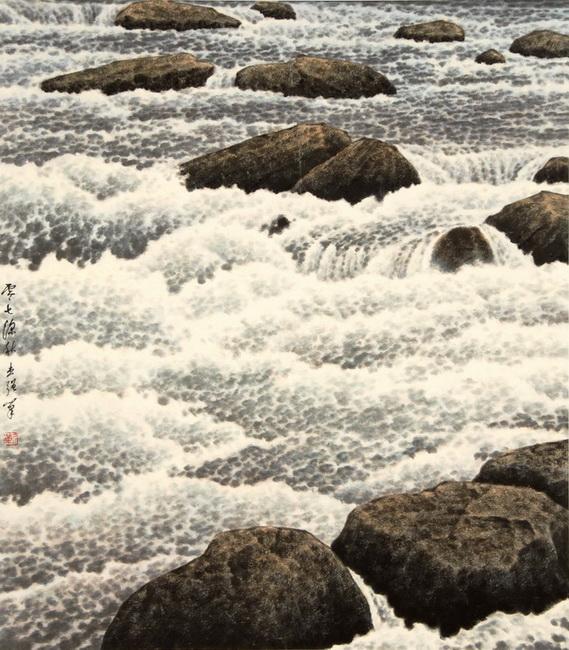 YR 23--Kan, Kit-Keung, White Water LIX, At the Merced.jpg