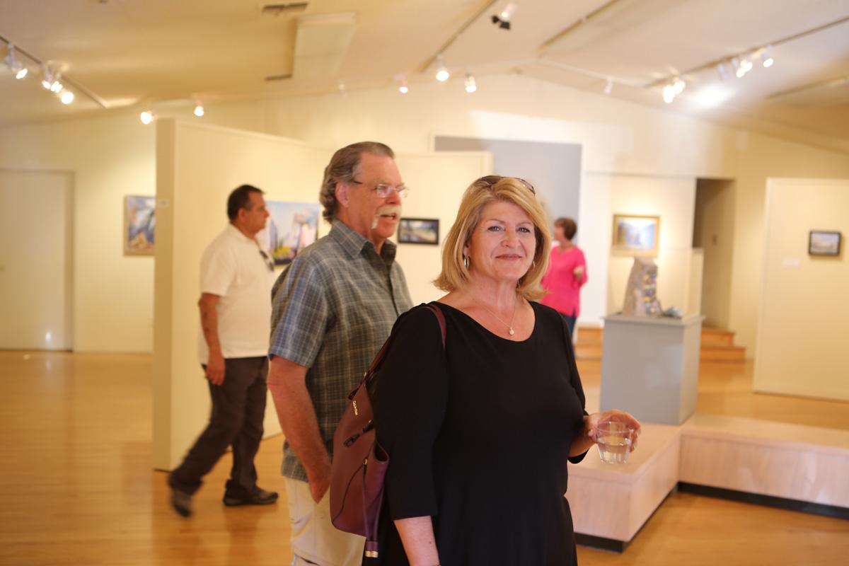 Visitors to the exhibit