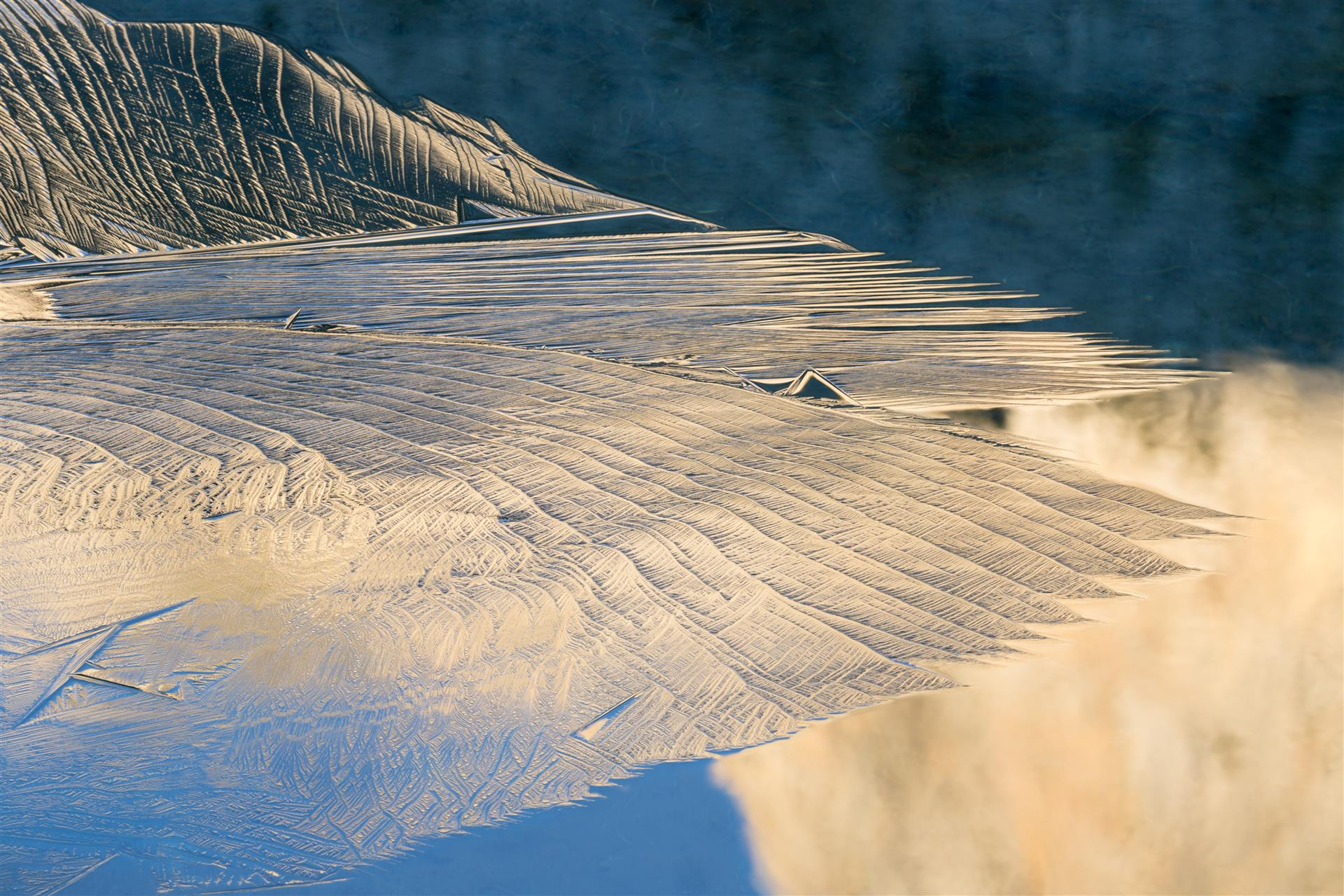 Ice Pattern on High Sierra Pond, Eastern Sierra, Kirk Keeler