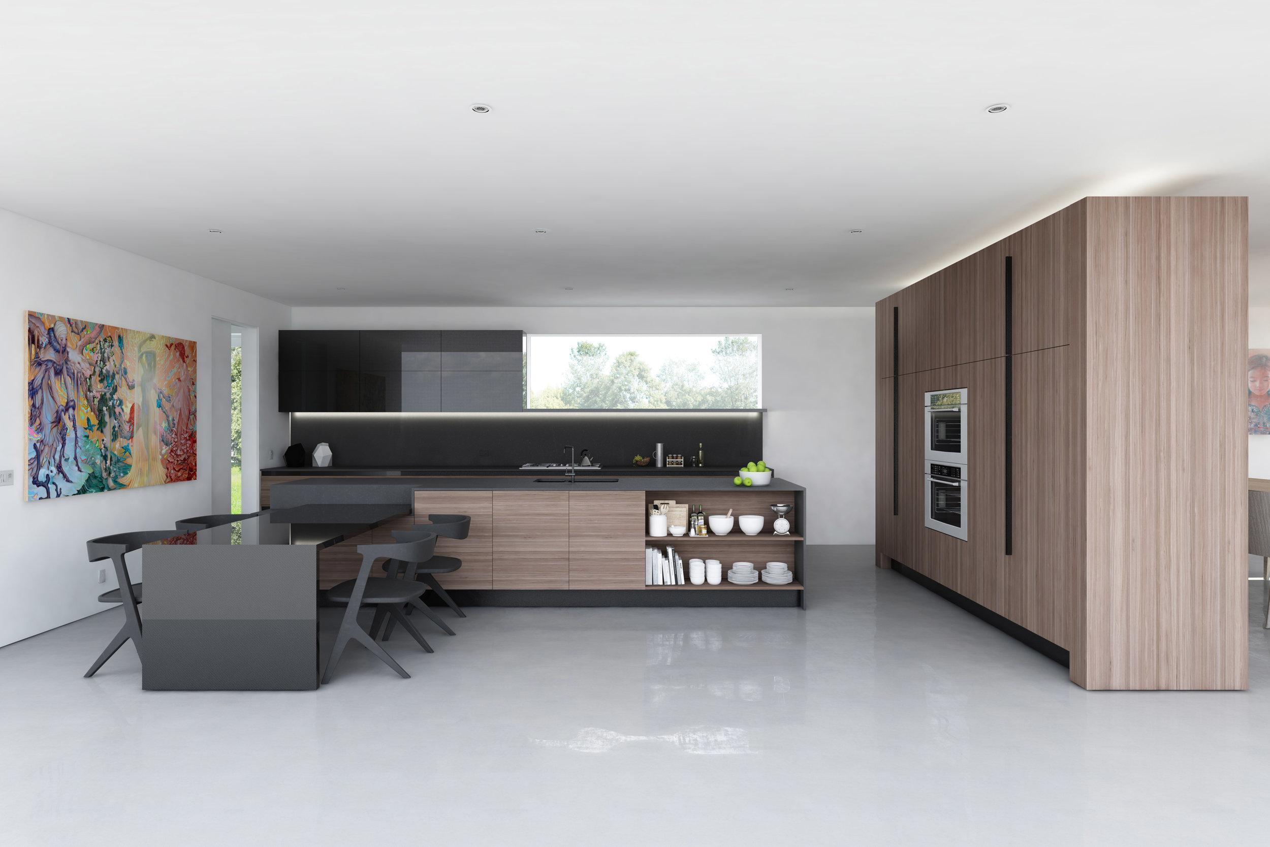 Rendering of the Bridge House kitchen