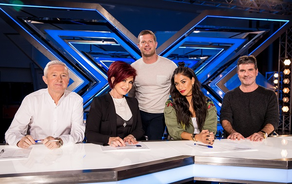 Louis Walsh, Sharon Osbourne, Dermot O'Leary, Nichole Scherzinger and Simon Cowell