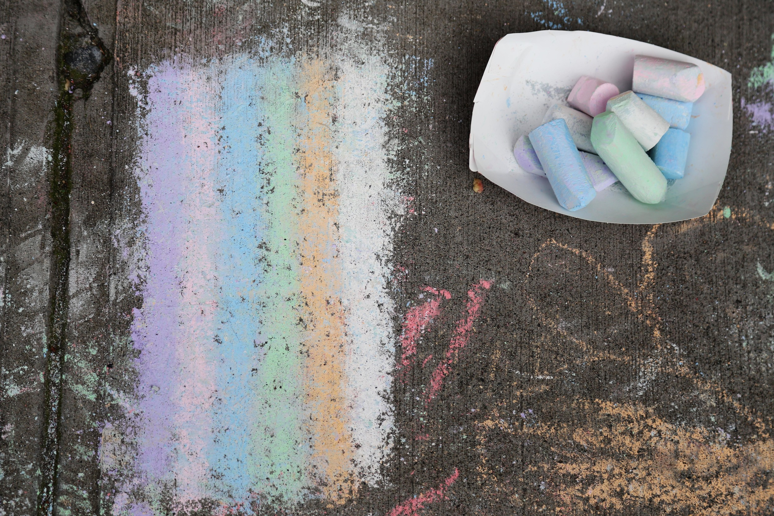 It isn't an Easter party without sidewalk chalk.