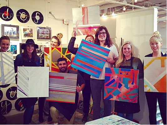 Photo of art classes from Brooke Westlund's  website .