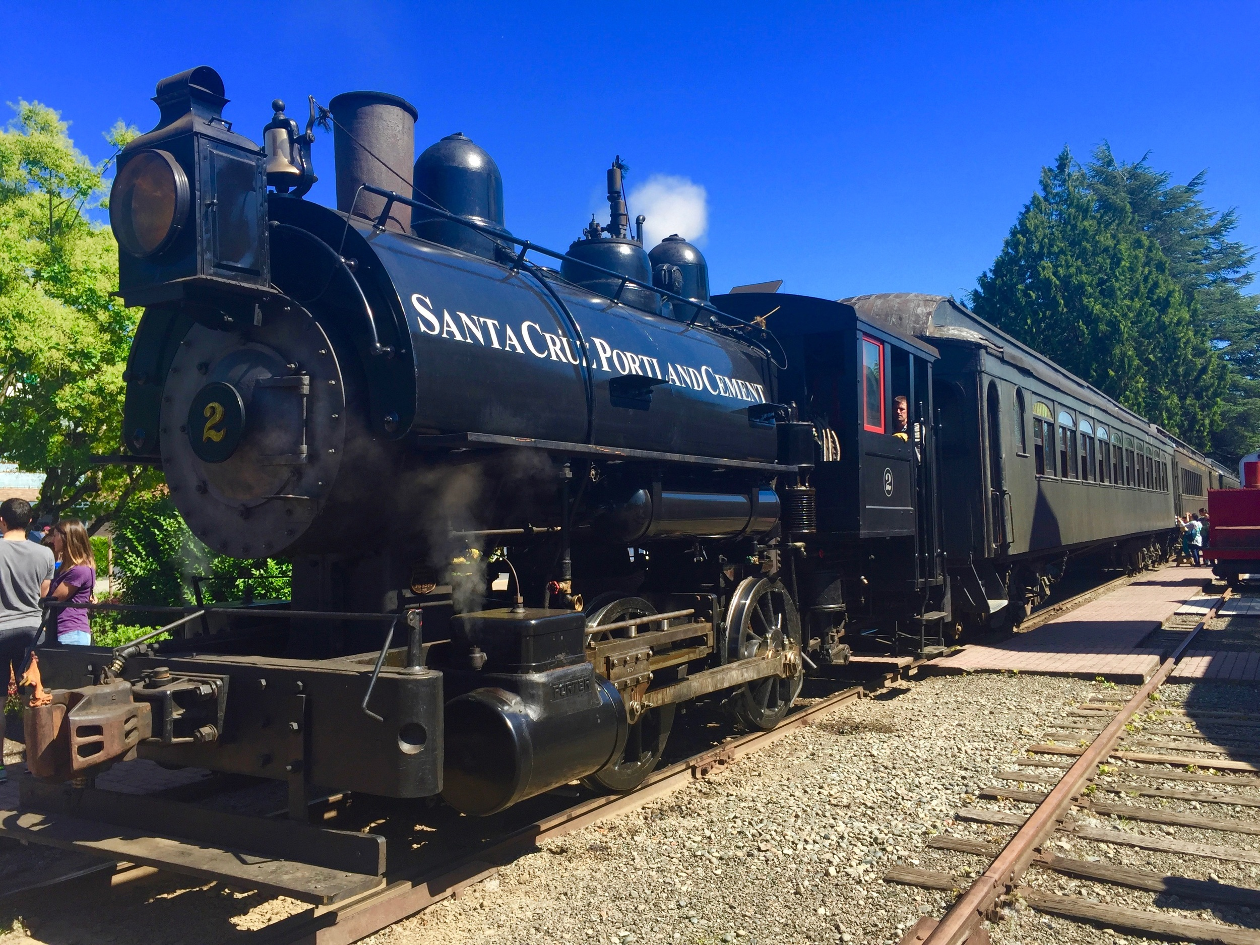 A ride on the antique steam engine is a treat for all ages.