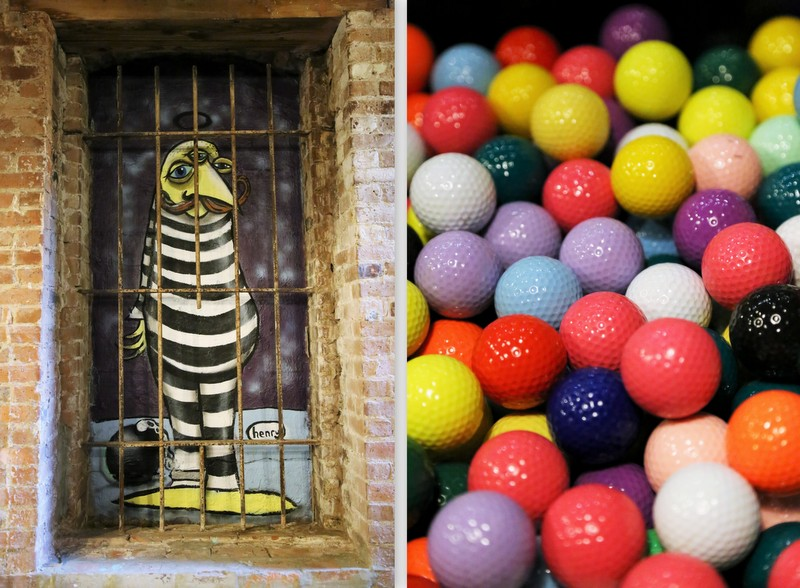 Henry art and colorful balls