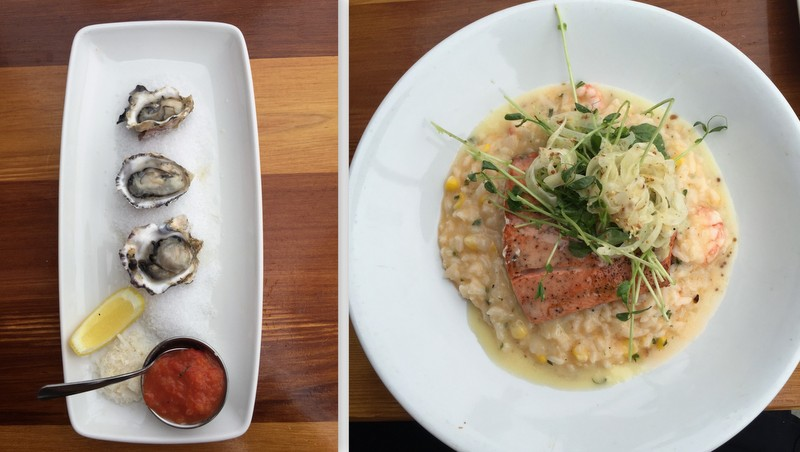 Oysters and salmon at Shelter