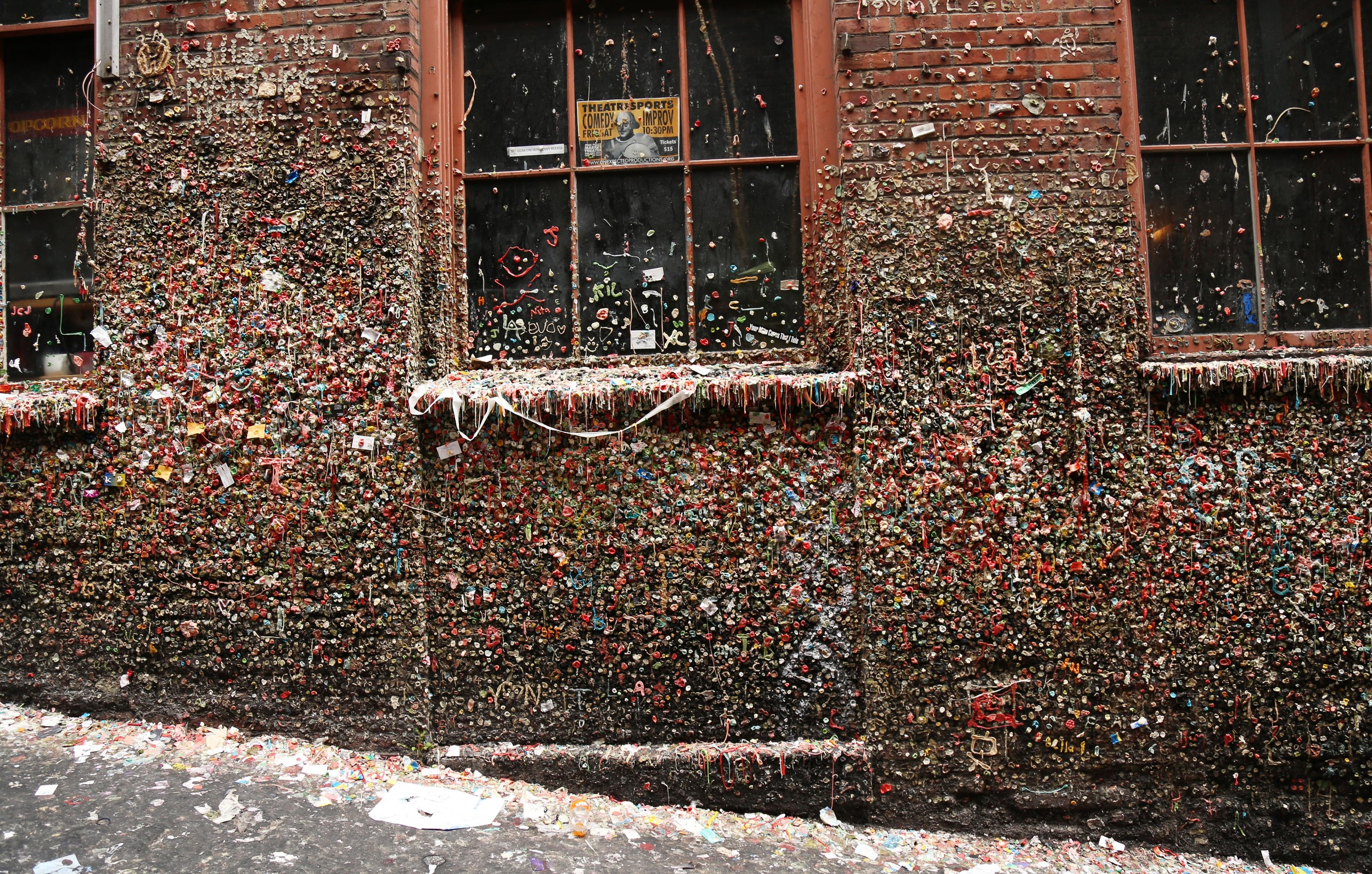 The gum wall cache is extremely difficult to find