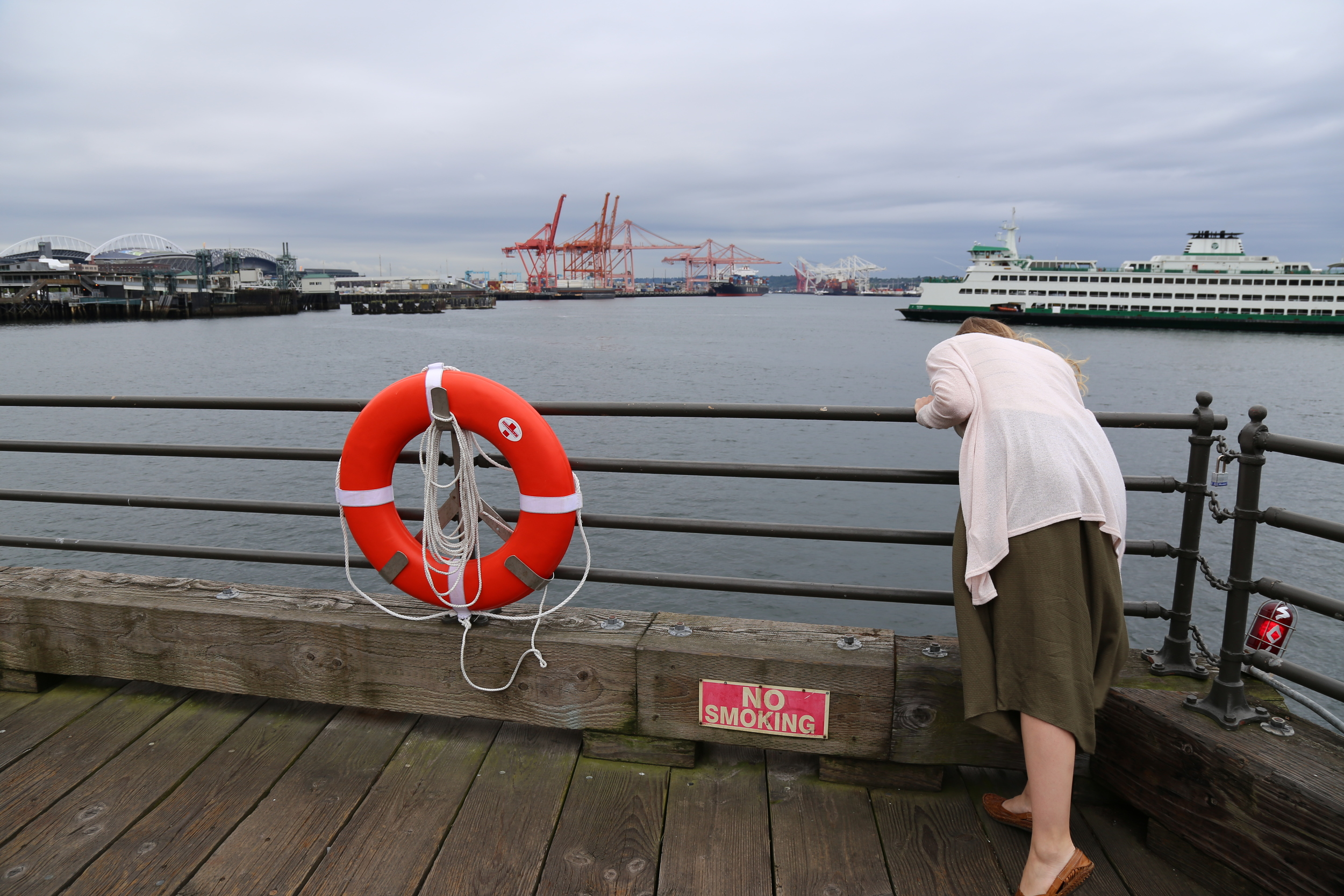 Searching at the waterfront