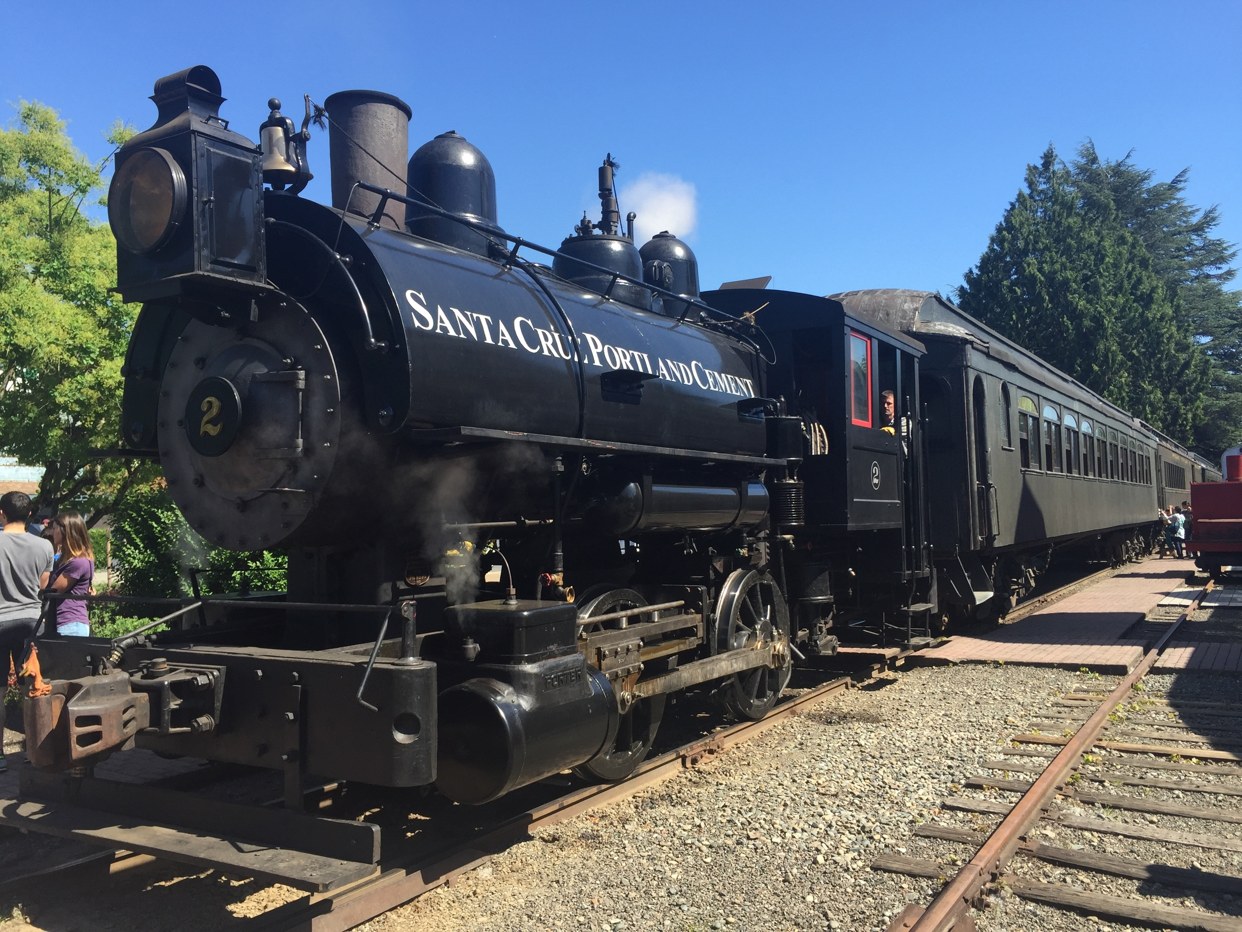 The real deal: a steam engine train