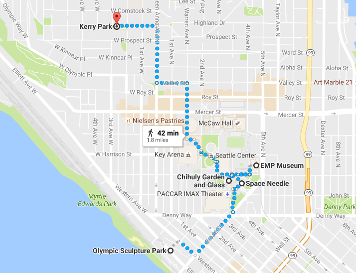 Sunday's route