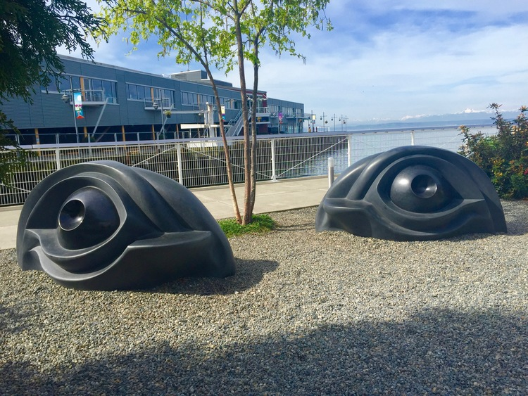 Sculptures that double as benches in the Olympic Sculpture Park