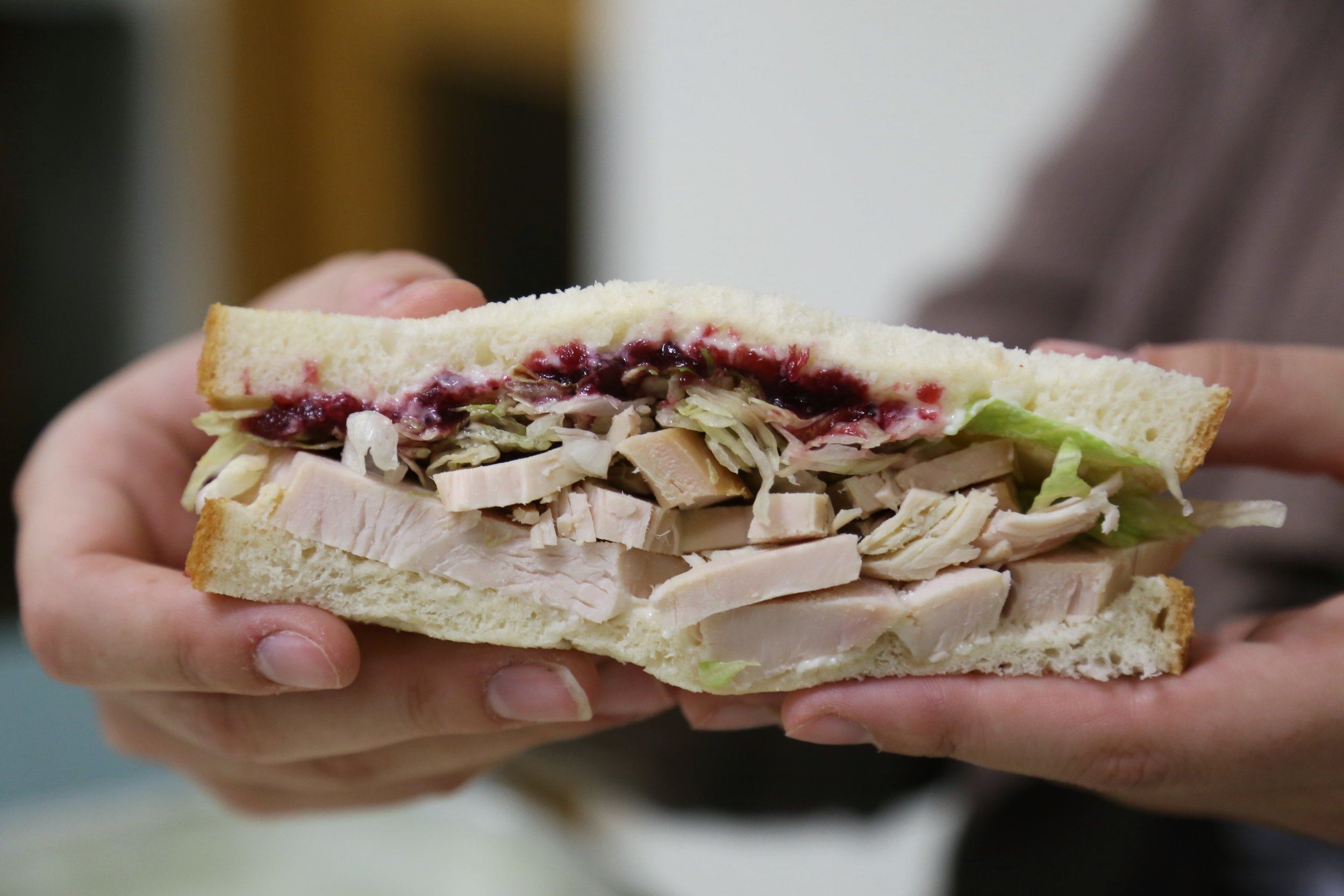 The incredible turkey sandwich with cranberry