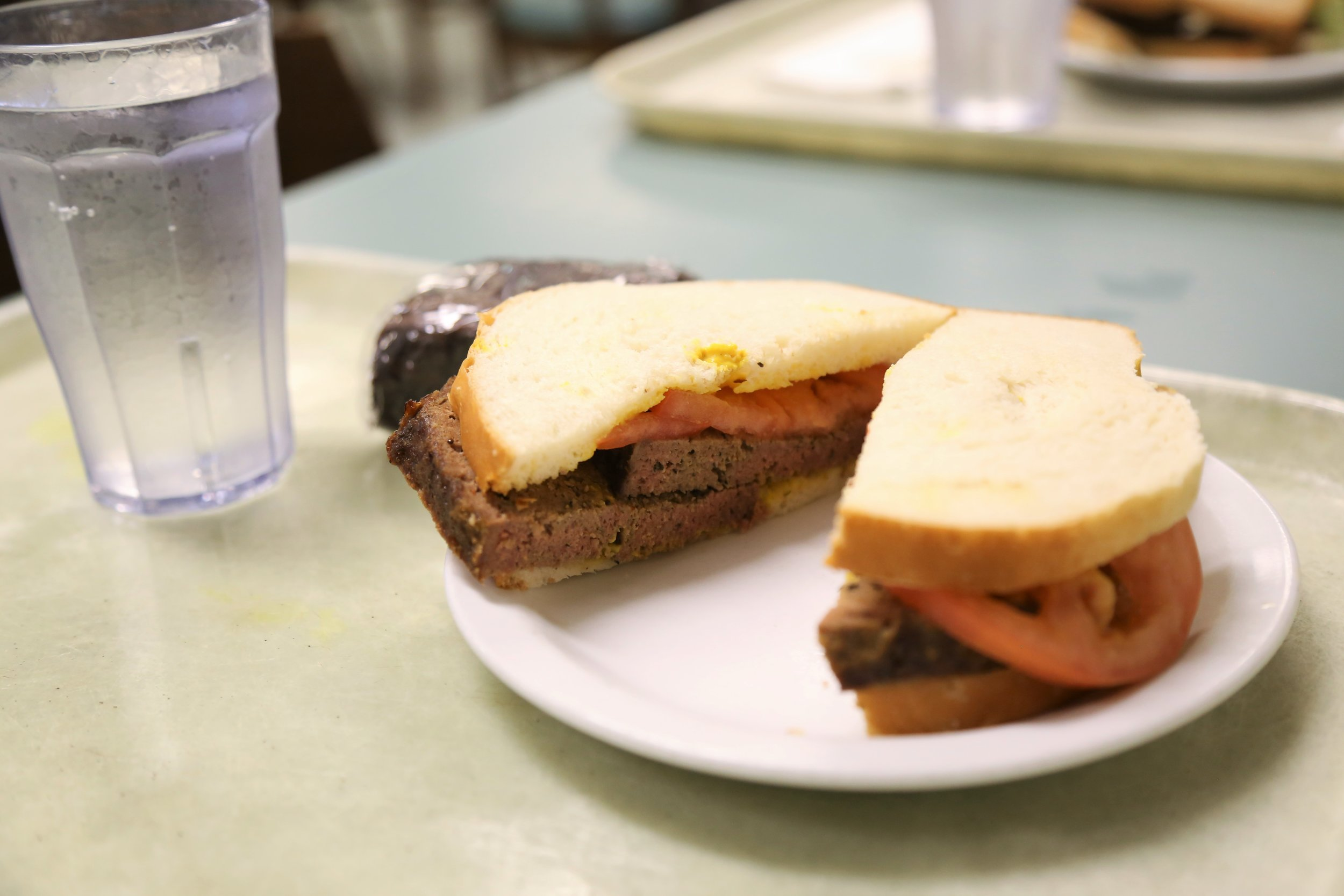 The meatloaf sandwich. We never said it looked pretty, but it tastes amazing!