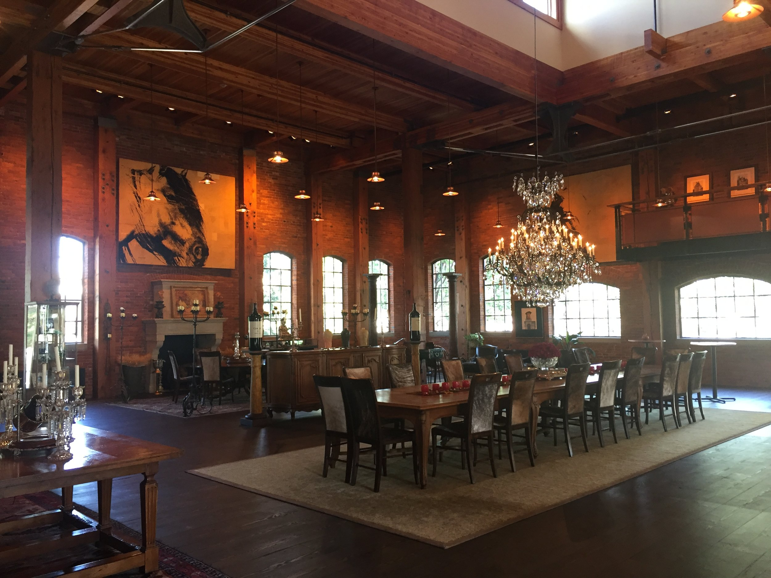 The remarkable tasting and event facilities at Corliss Estates.