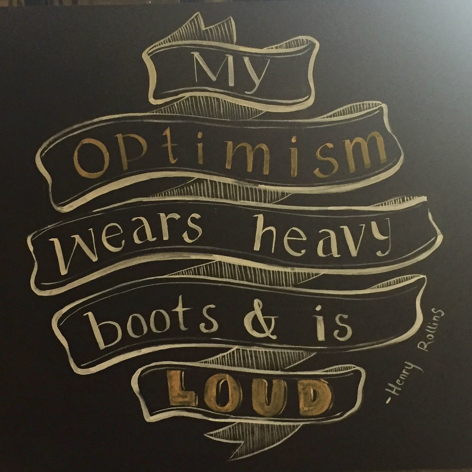 Quote by the bar at Optimism Brewing