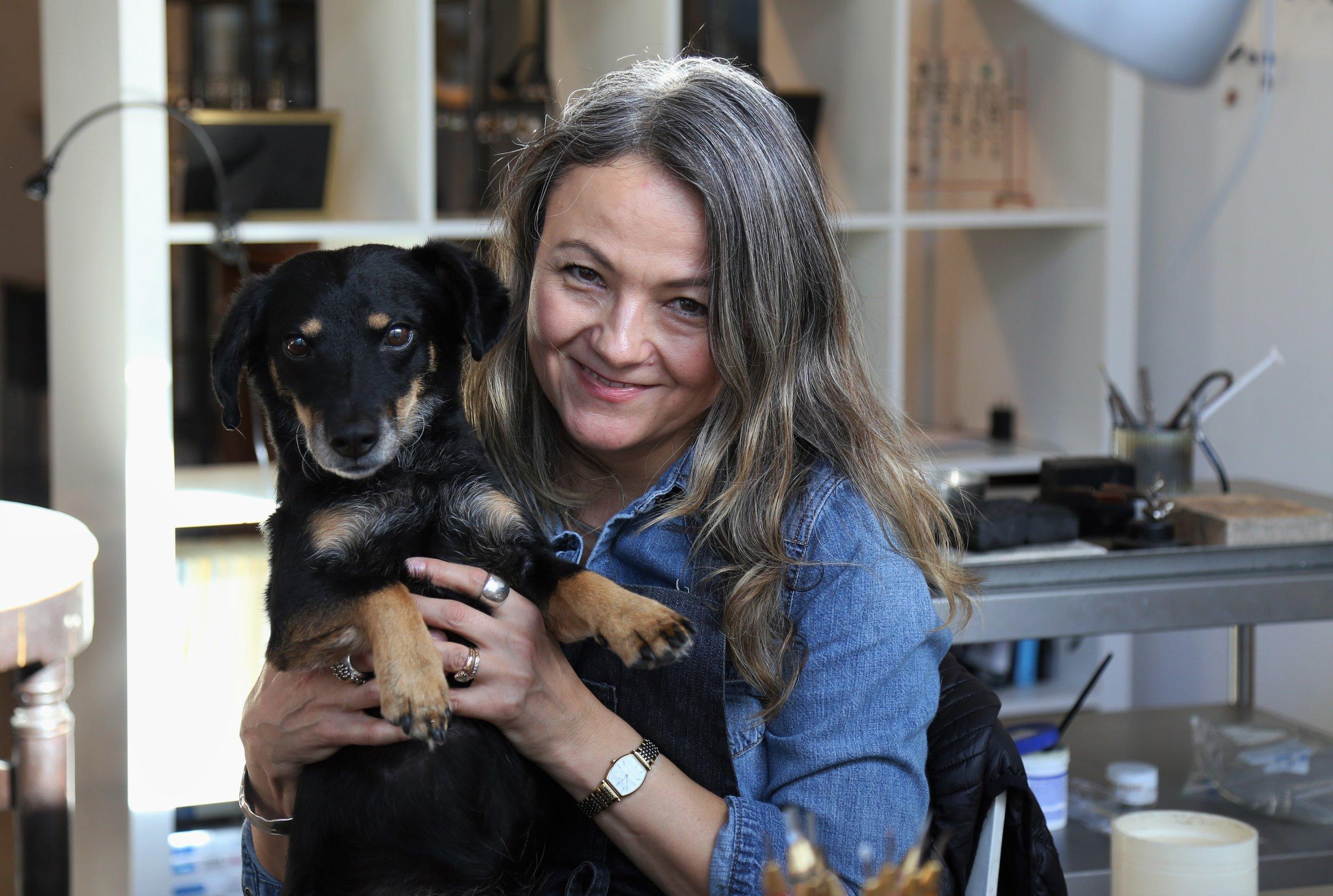 Joanna and her dog, Mandy!