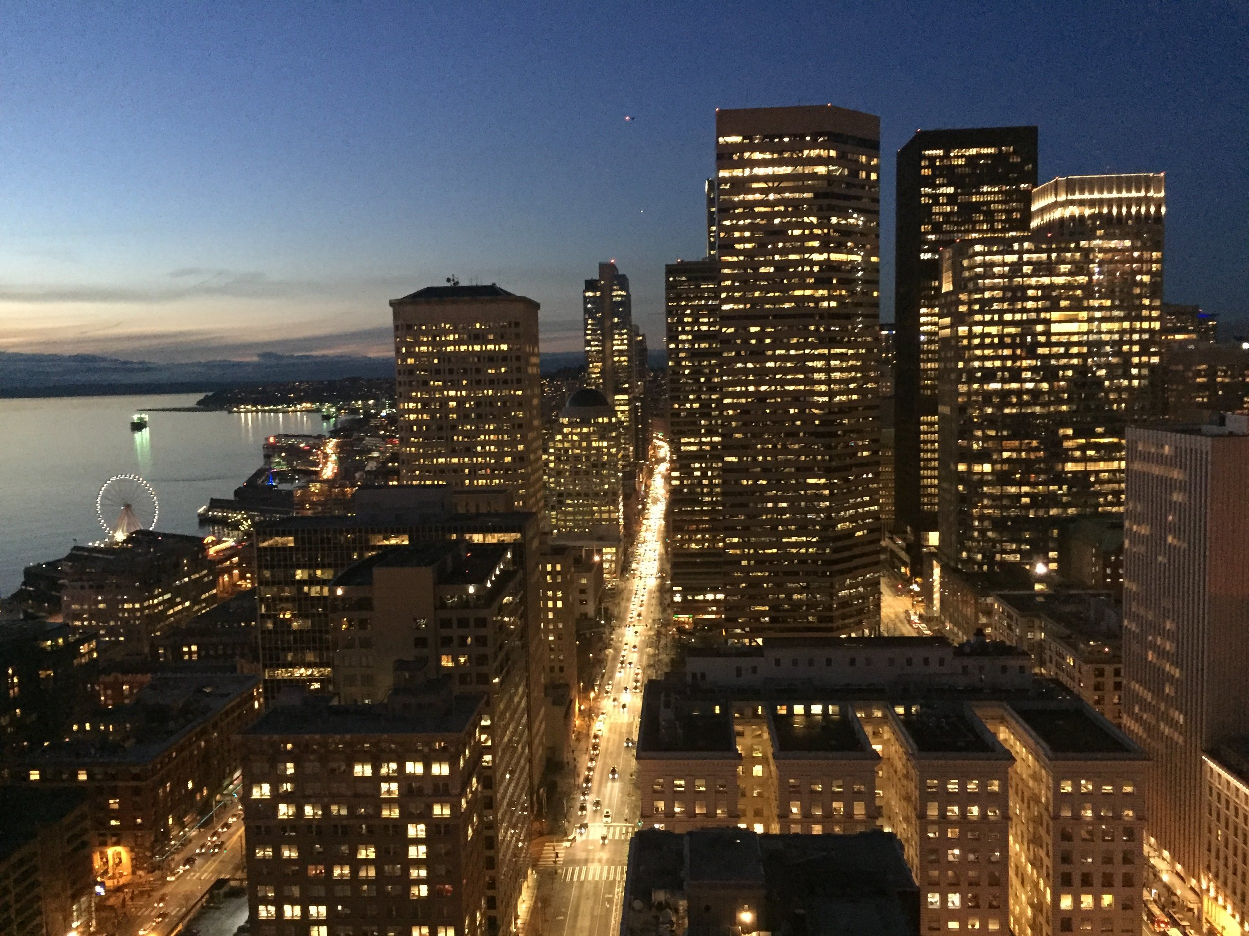 view from the Smith Tower with Space Needle