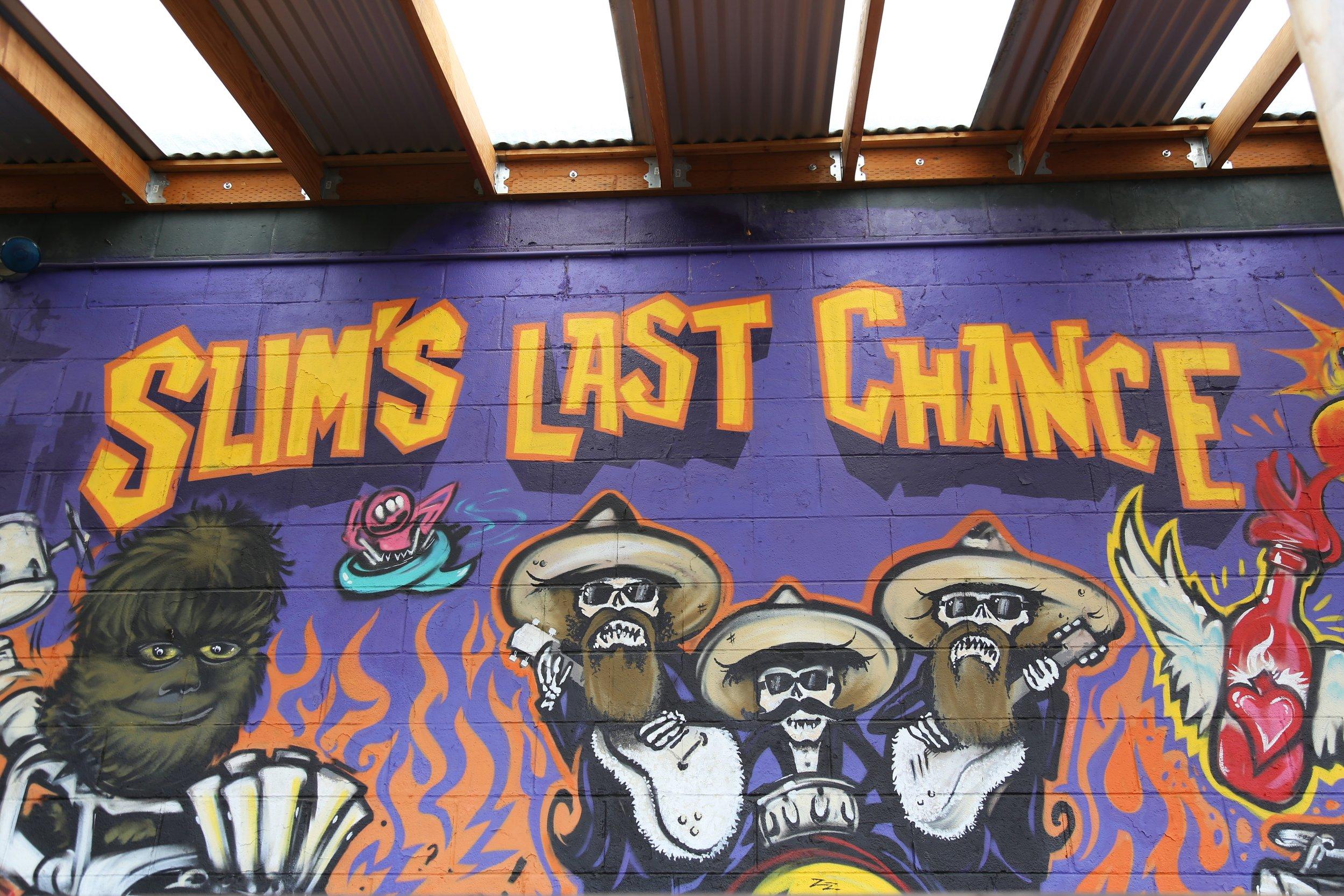 Slim's crazy outdoor mural