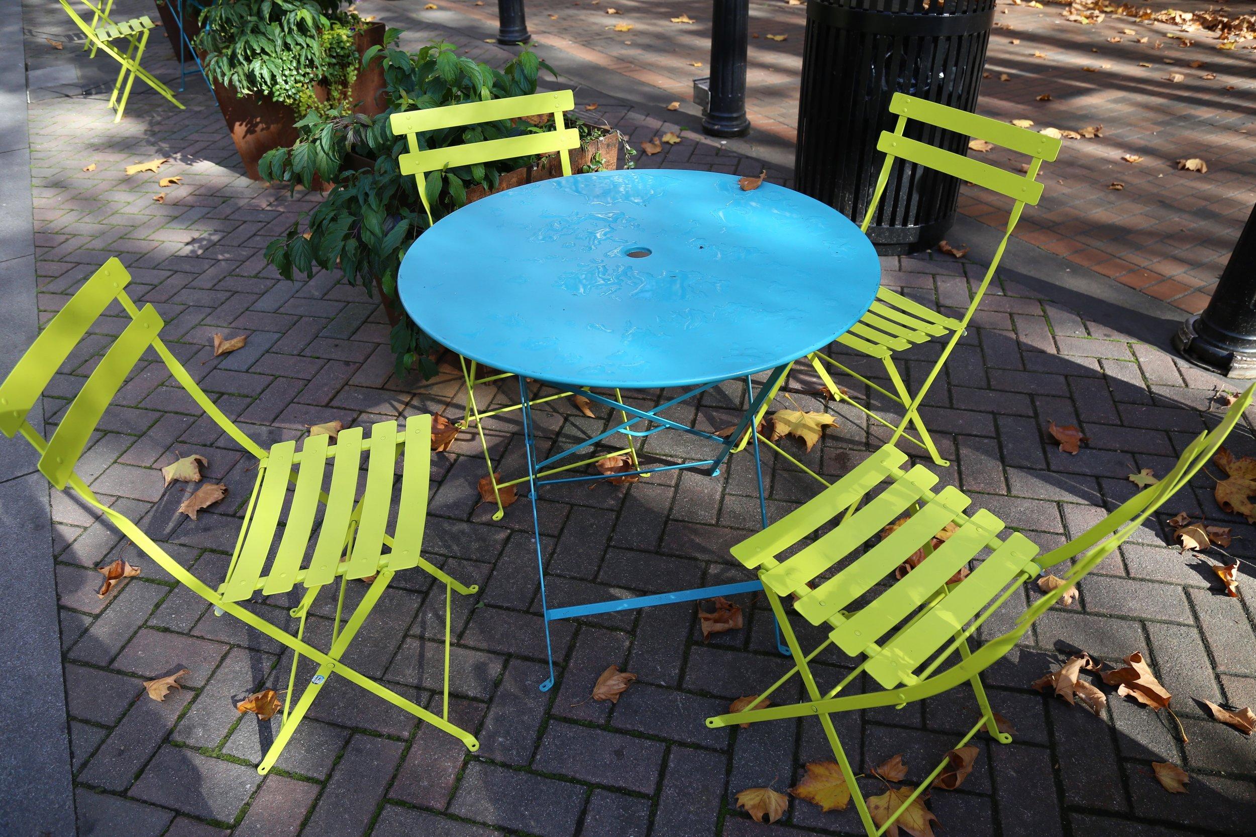 Occidental Park tables