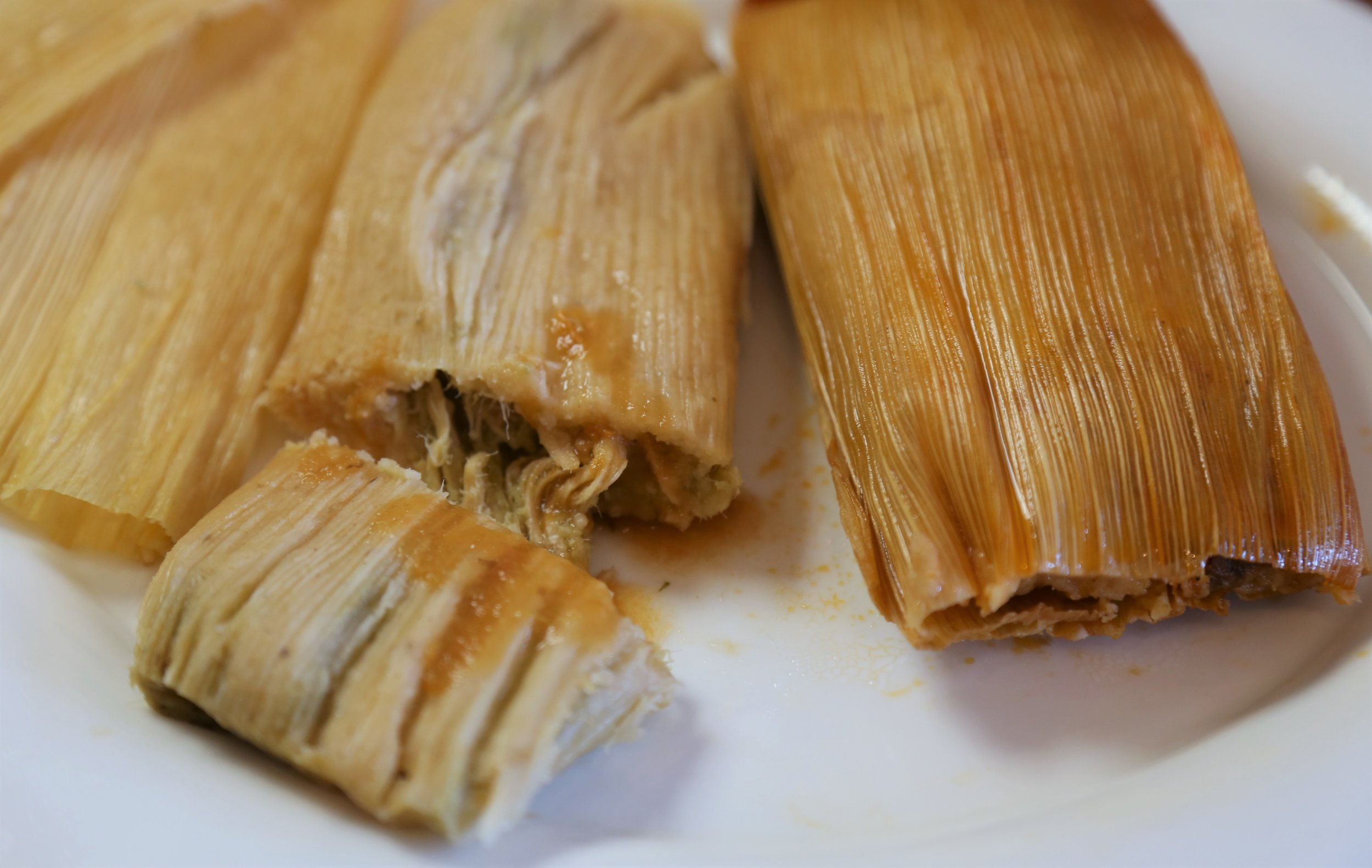 Pork and chicken tamales at Cafetal Quilombo