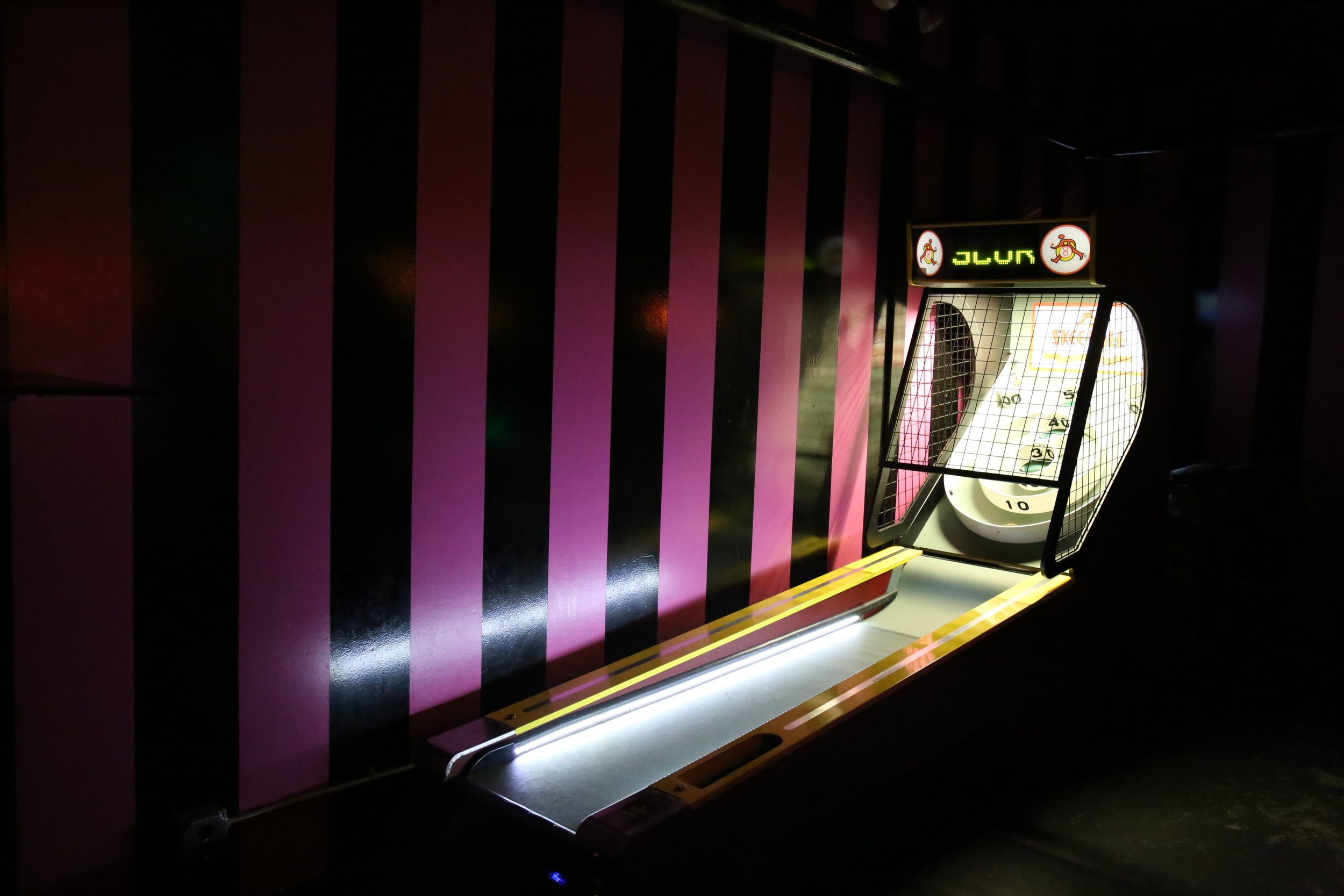 Skee ball at the Unicorn
