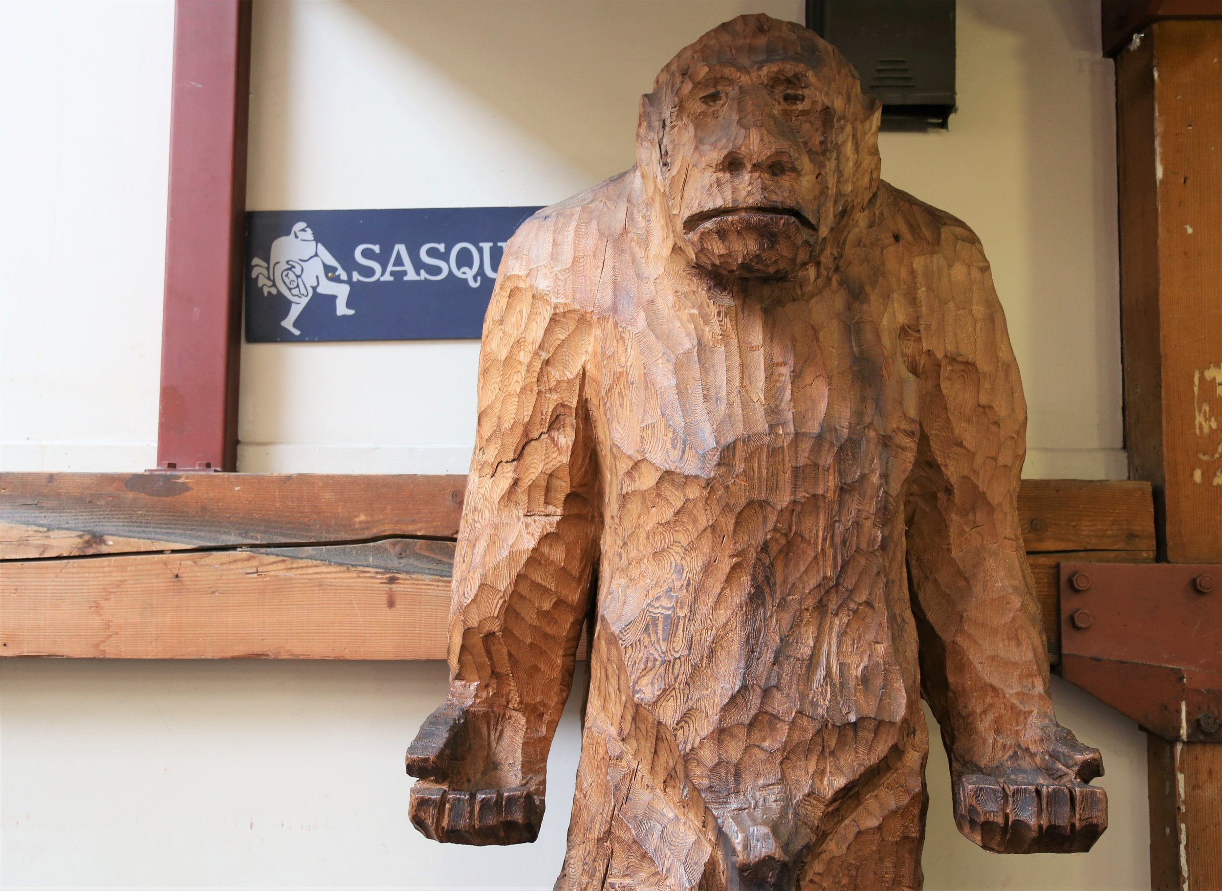 Eat lunch with a giant Sasquatch