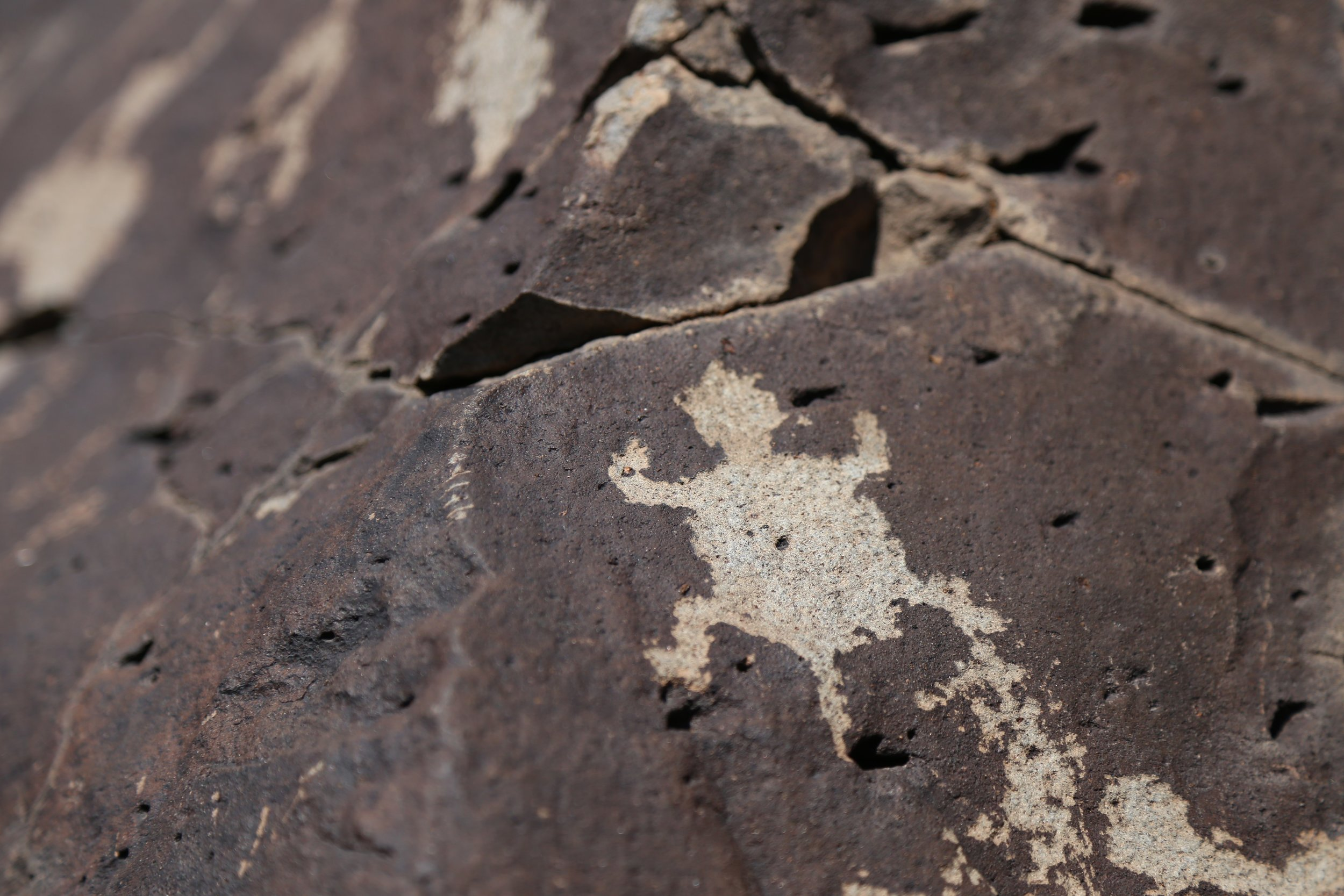 A petroglyph just outside of Santa Fe