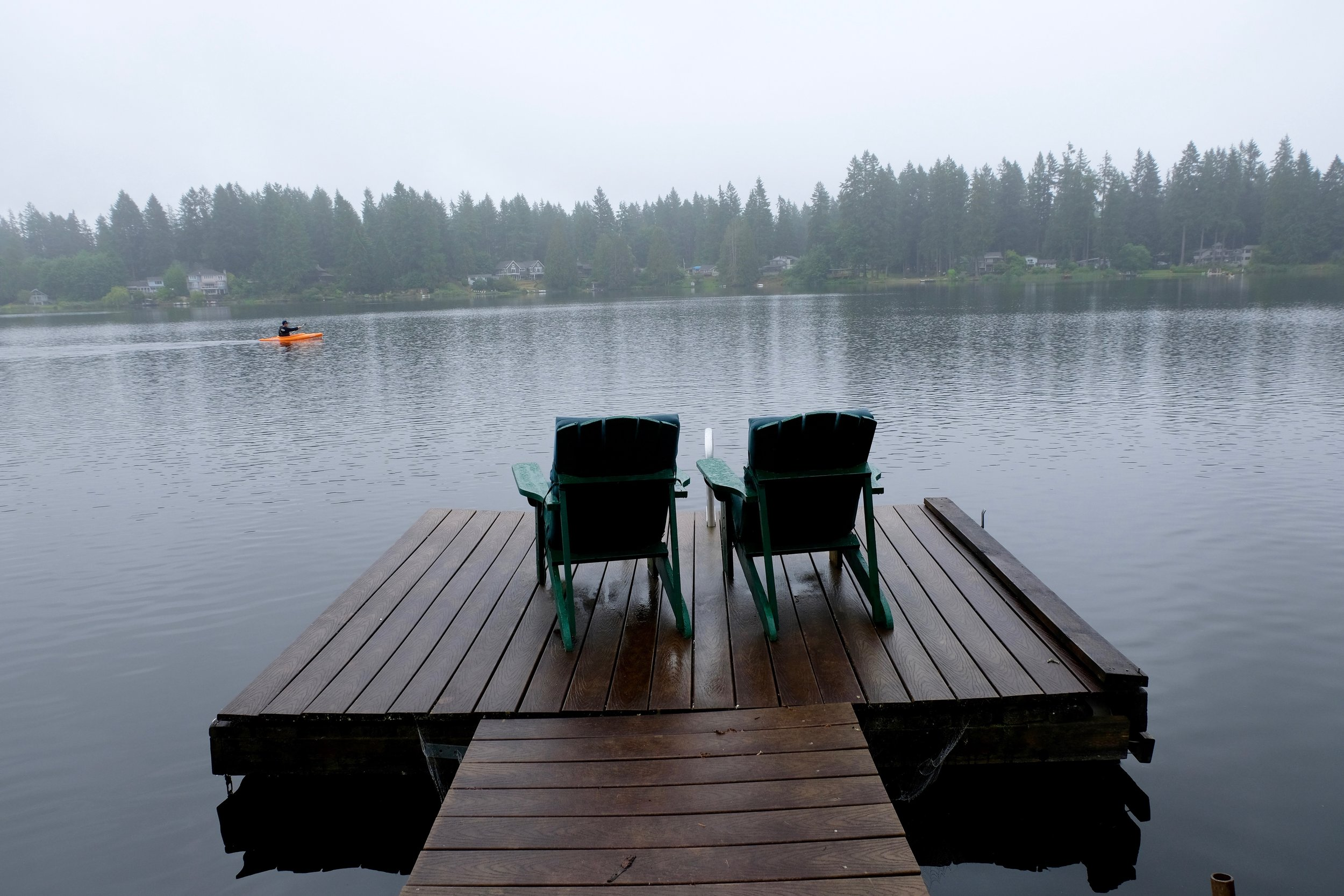 Even on cloudy days it was wonderful to have a dock to enjoy.