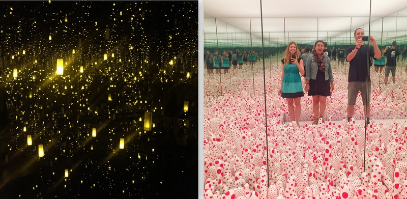 The twinkle light room and the polka dot tubers room