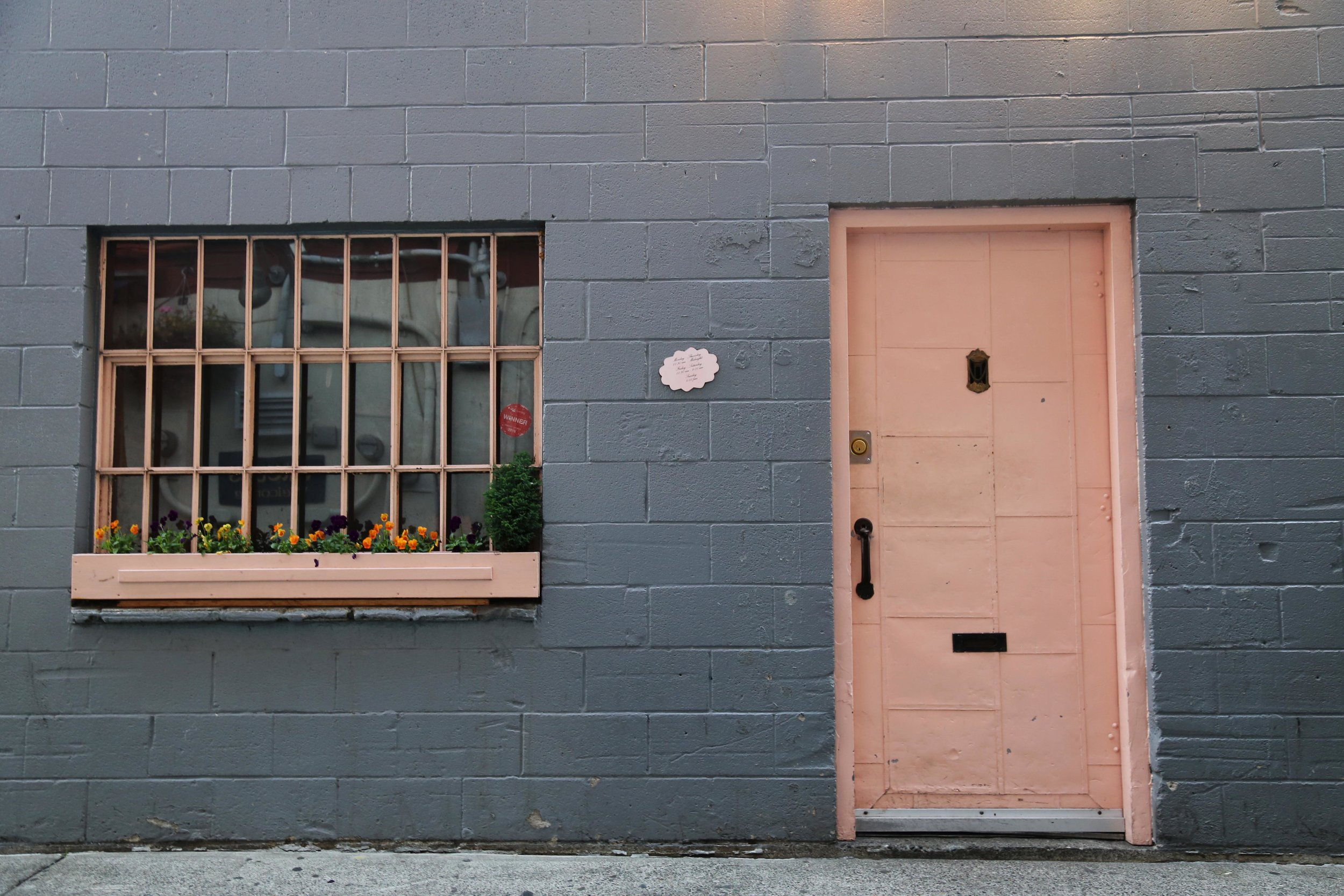 The actual Pink Door (which is really more salmon in color, right?)